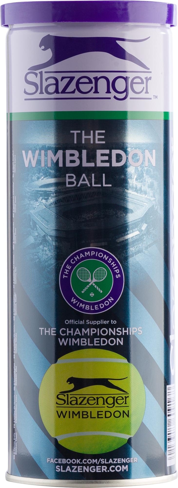 Slazenger Набор теннисных мячей Wimbledon Ultra Vis Hydroguard, 3 шт