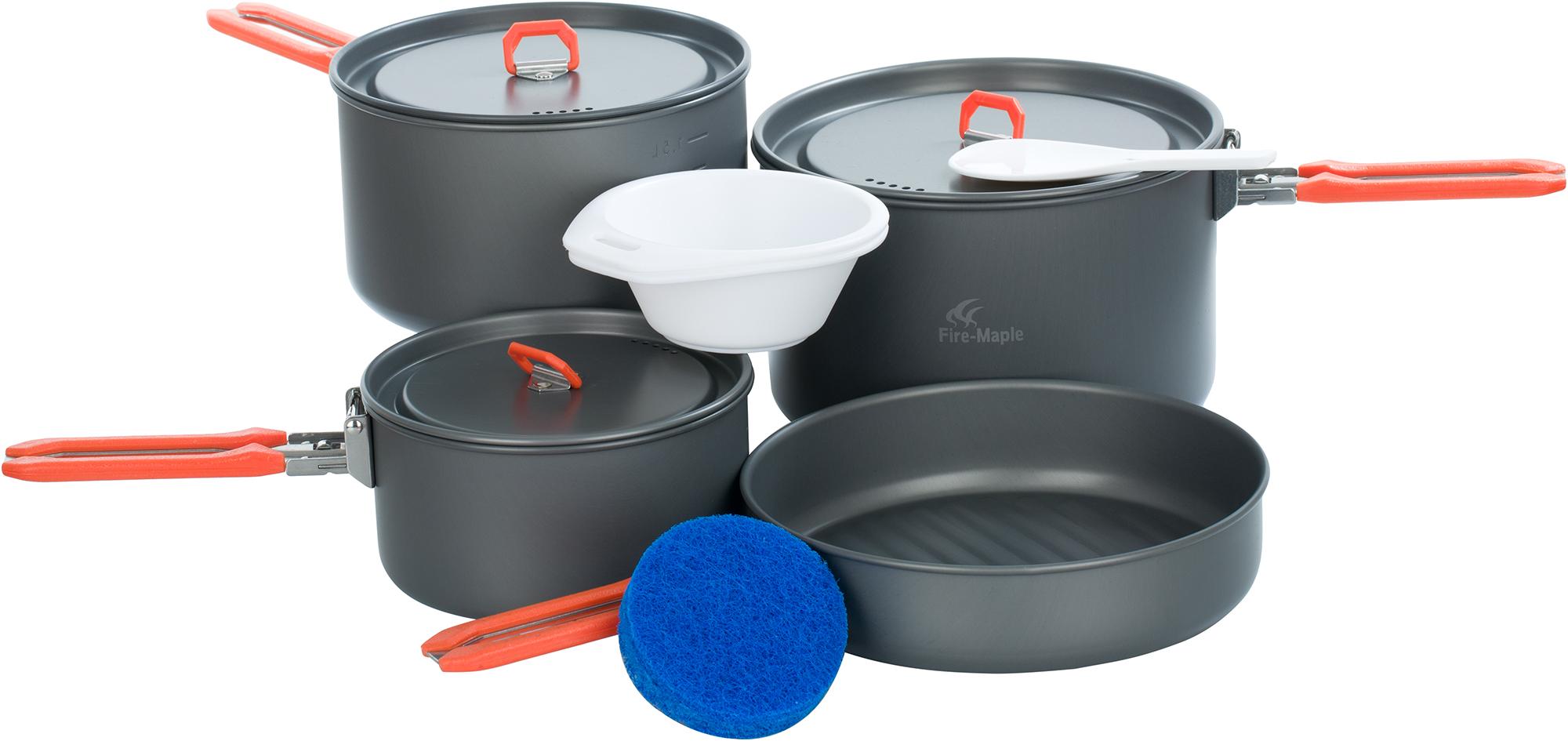Fire-Maple Набор посуды: 3 котелка, сковорода FEAST 5