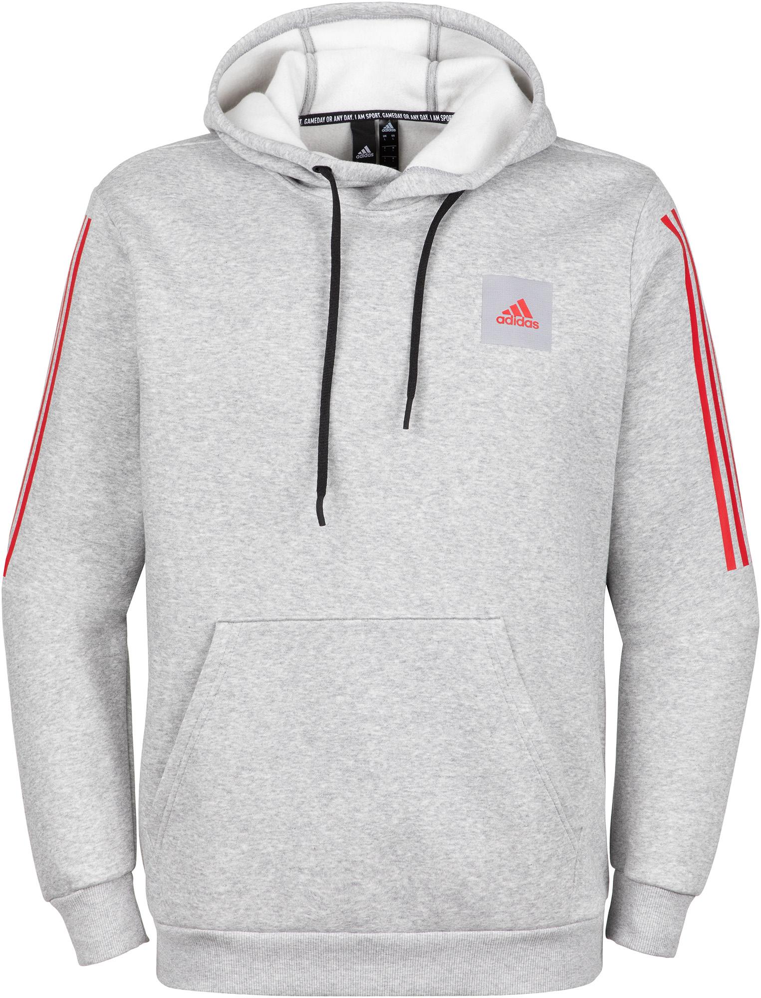худи женское adidas ess 3s fz hd цвет серый розовый br2438 размер s 42 44 Adidas Худи мужская Adidas, размер 48-50