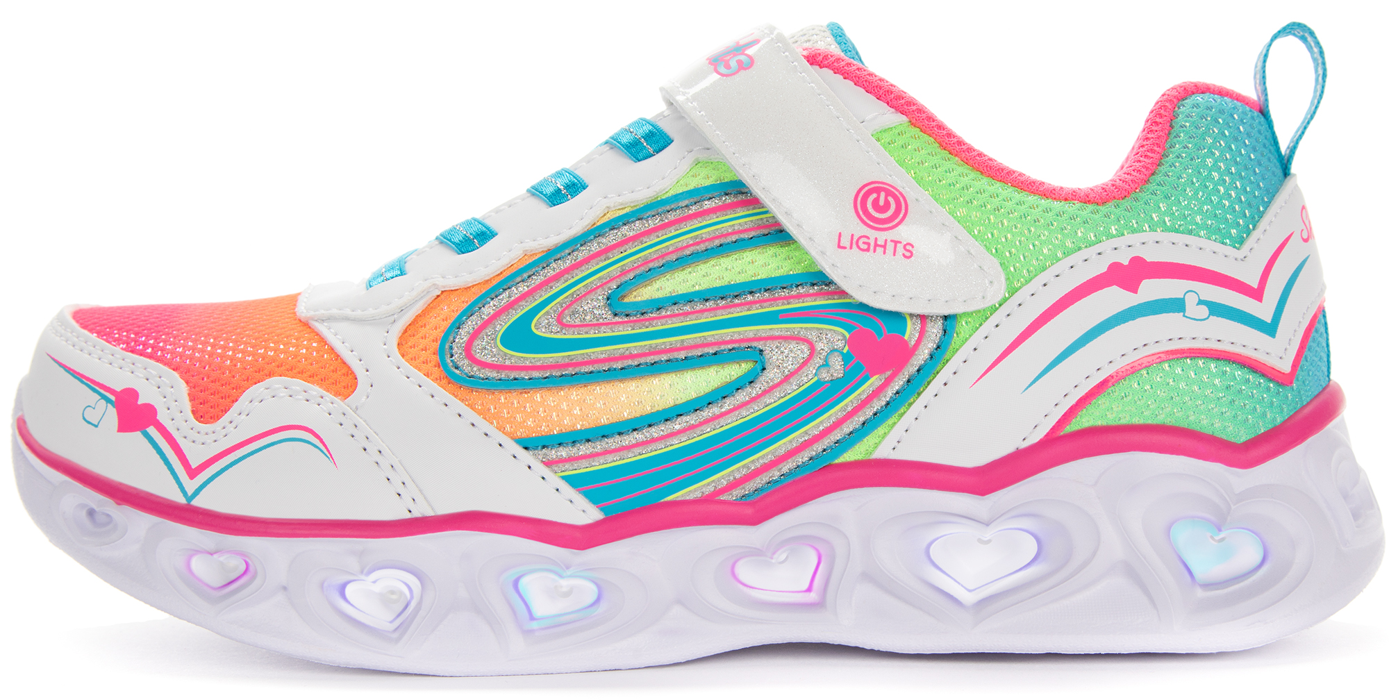 цена на Skechers Кроссовки для девочек Skechers Heart Lights Love Spark, размер 36