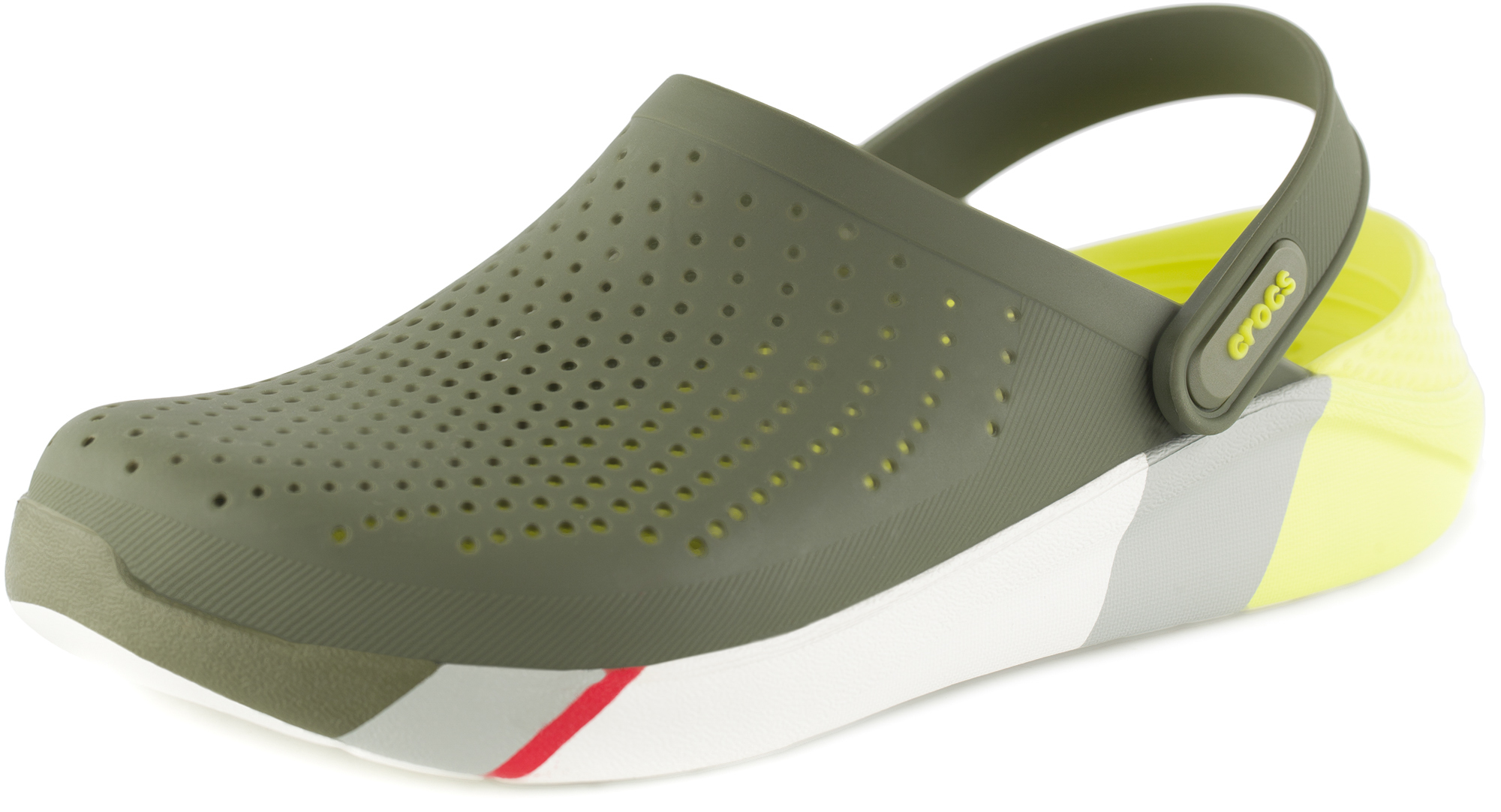 цена на Crocs Шлепанцы Crocs LiteRide Colorblock, размер 44-45
