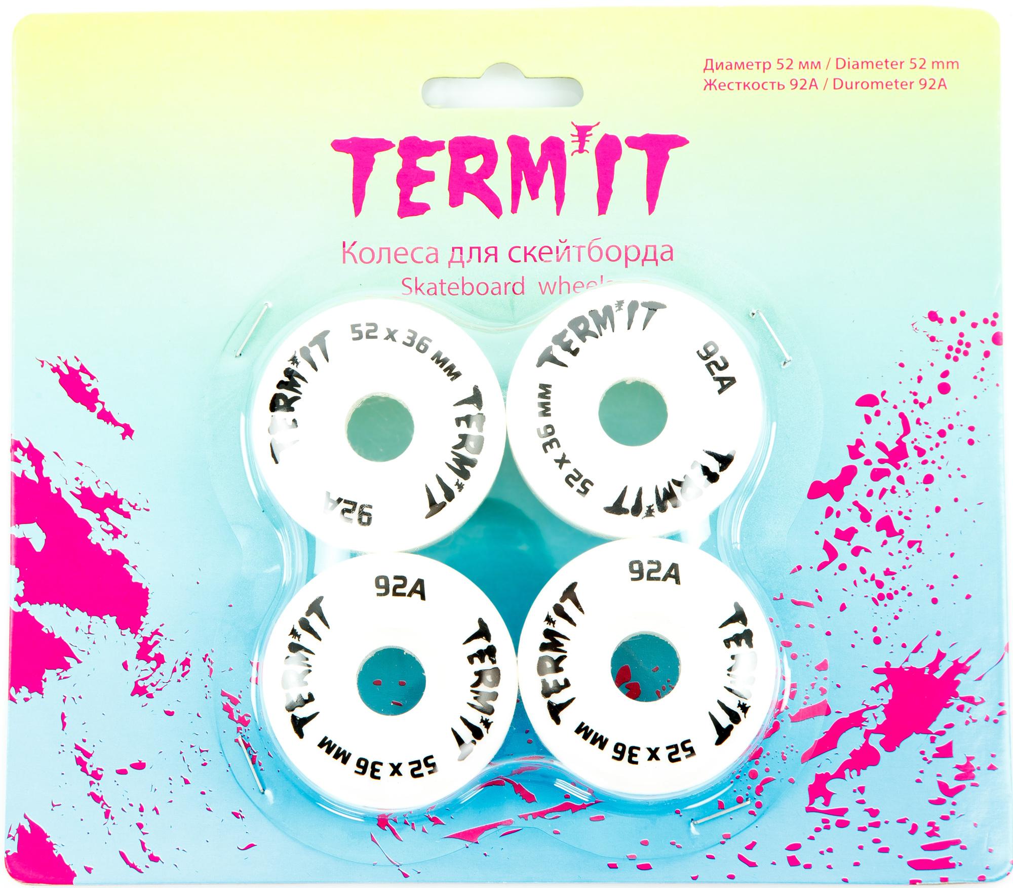 купить Termit Набор колес для скейтборда Termit 52 мм, 92А, 4 шт. по цене 849 рублей