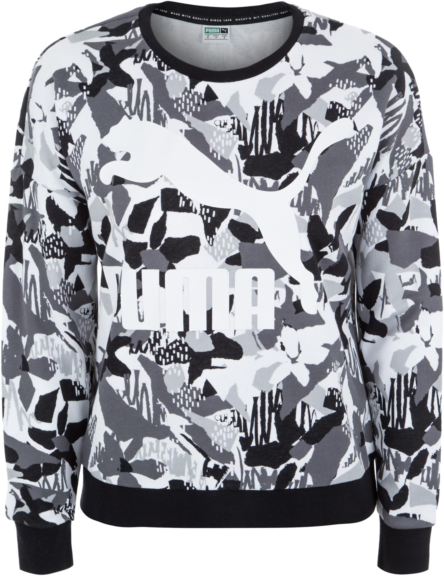 все цены на Puma Джемпер женский Puma Classics Logo Crew AOP, размер 46-48 онлайн