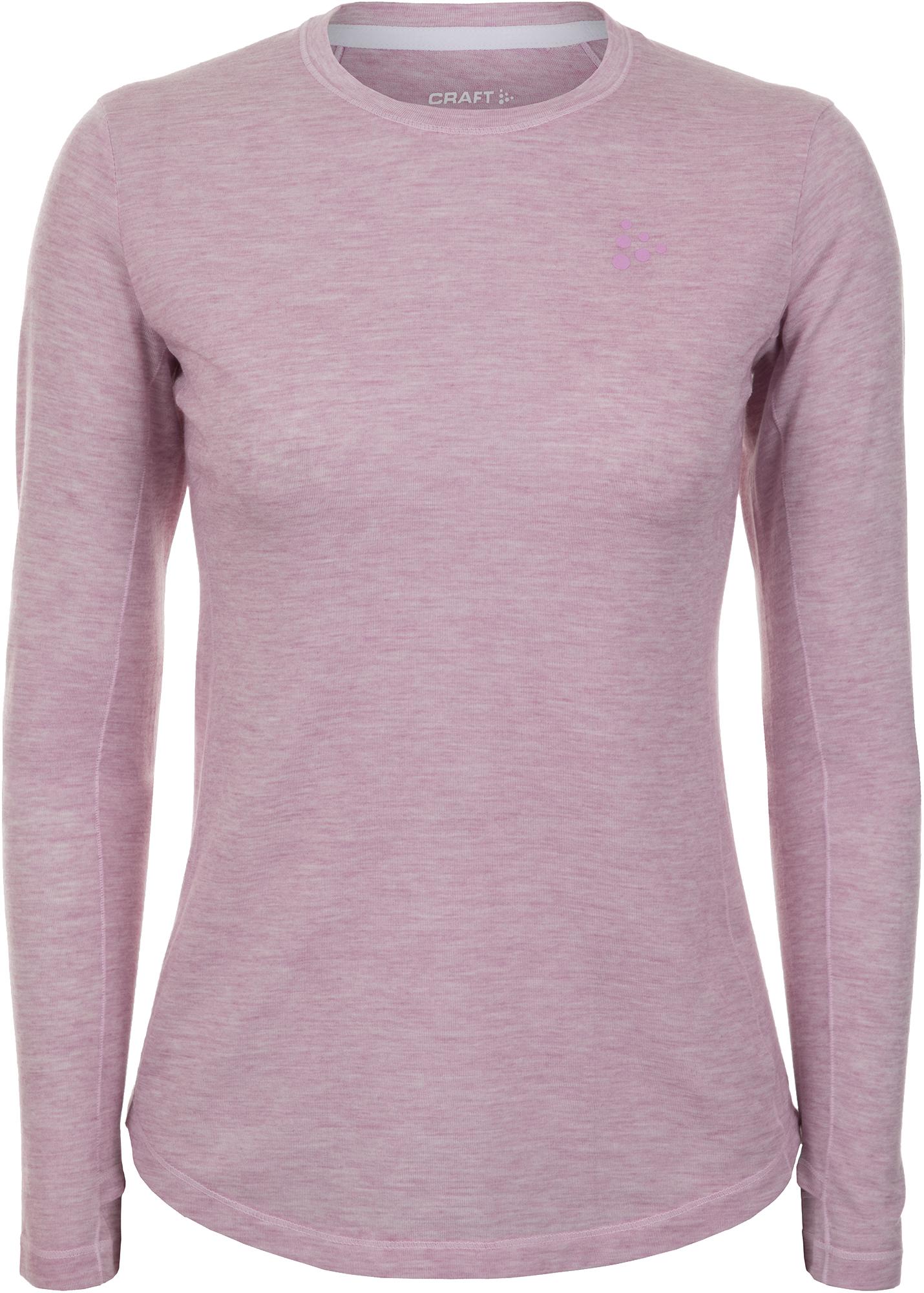 Craft Футболка с длинным рукавом женская Craft Urban Run LS Wool Tee, размер 44-46 футболка женская puma evo tee цвет персиковый 57511231 размер m 44 46
