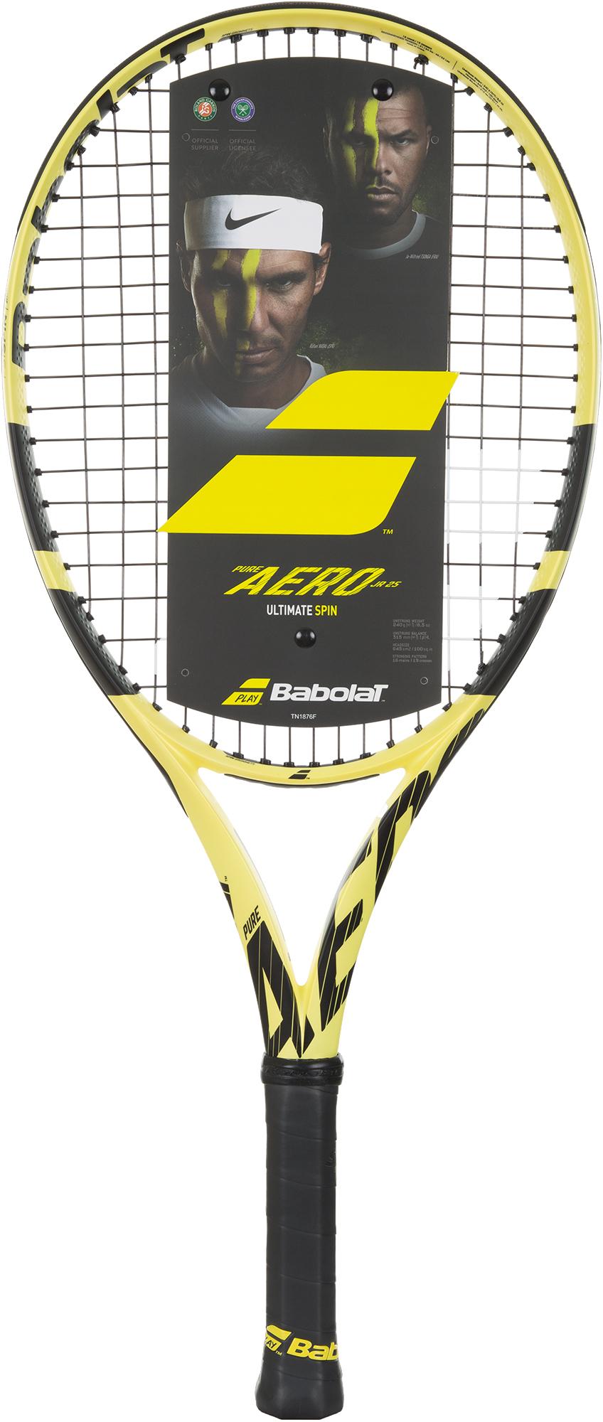 Babolat Теннисная ракетка Babolat PURE AERO JUNIOR 25 babolat ракетка для большого тенниса детская babolat aero junior 25 размер без размера