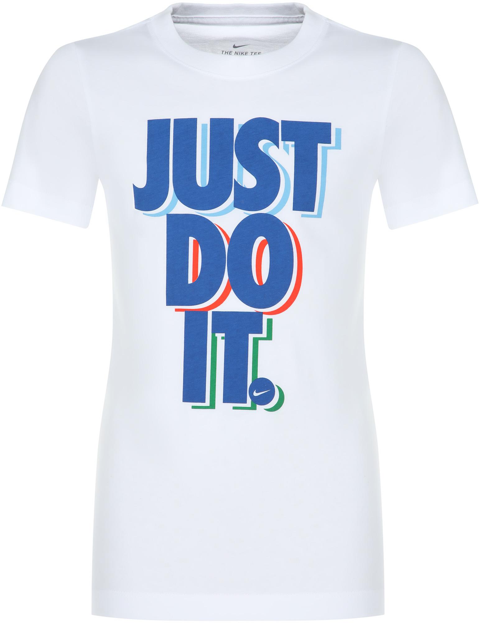 Фото - Nike Футболка для мальчиков Nike Sportswear Just Do It, размер 147-158 nike свитшот мужской nike sportswear just do it размер 52 54