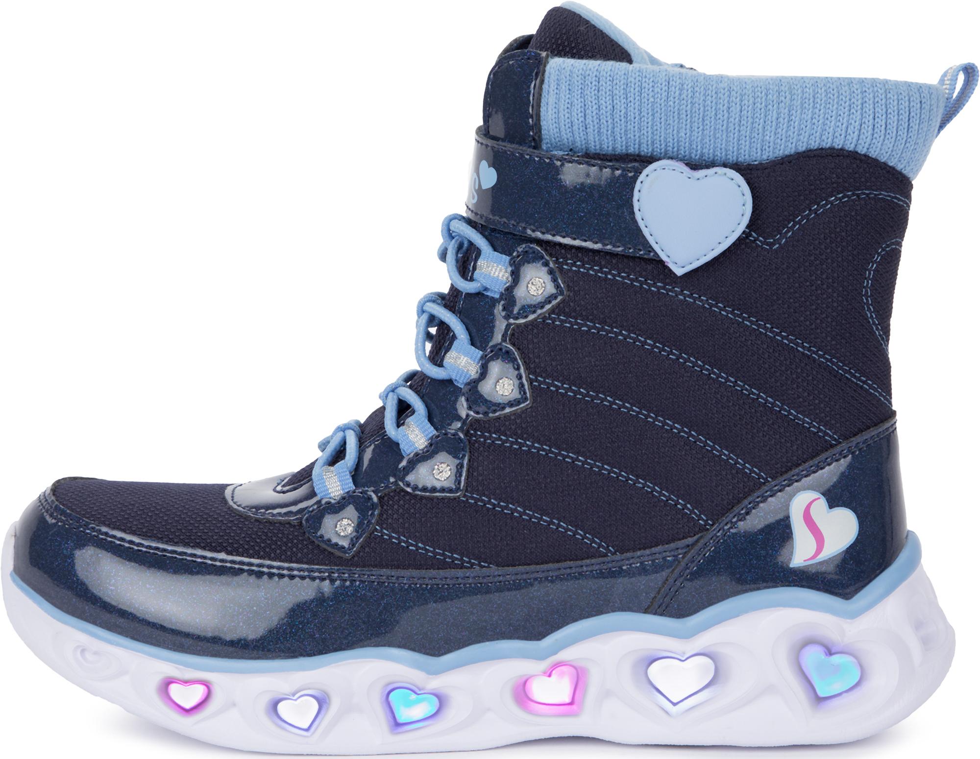 Skechers Сапоги утепленные для девочек Heart Lights, размер 30