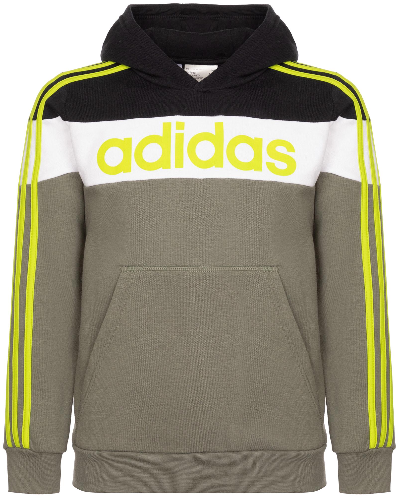 худи женское adidas ess 3s fz hd цвет серый розовый br2438 размер s 42 44 Adidas Худи для мальчиков Adidas Linear, размер 128