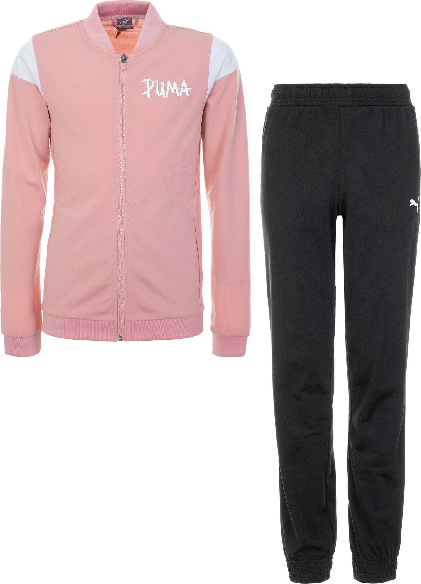 Puma Костюм для девочек Puma Poly Suit, размер 164 костюм спортивный женский puma active yogini woven suit цвет коралловый 85021628 размер xl 48 50