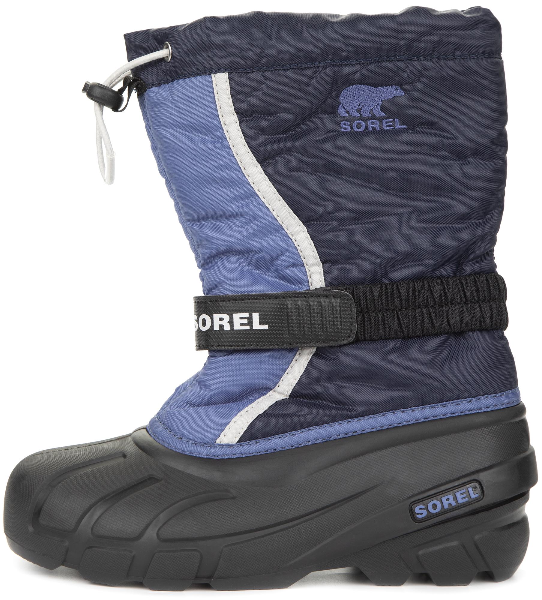 цена на Sorel Сапоги утепленные для мальчиков Sorel Youth Flurry, размер 36