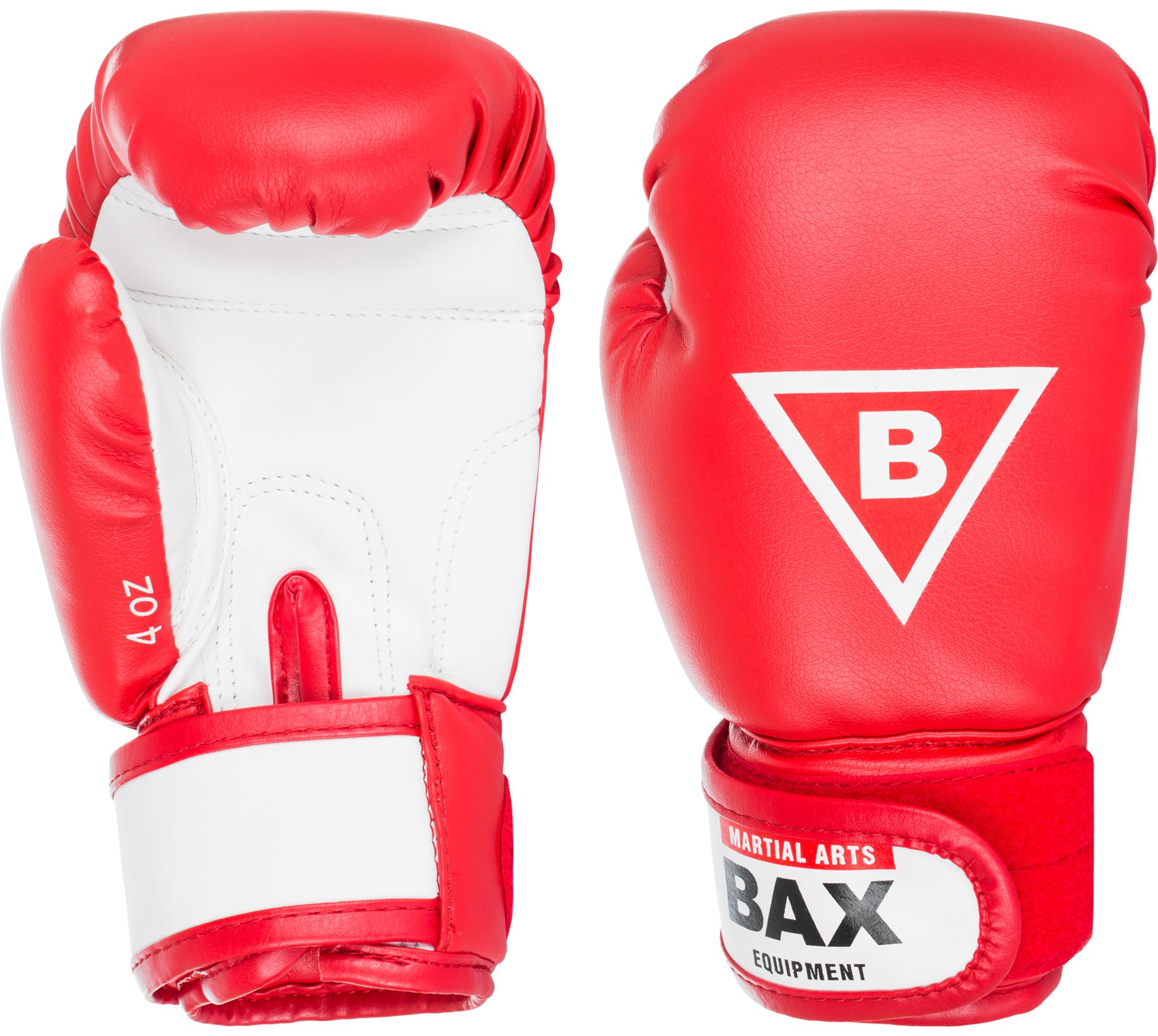 Bax Перчатки боксерские детские BAX, размер 4 oz боксерские перчатки venum challenger 2 0 черный красный вес 16 унций