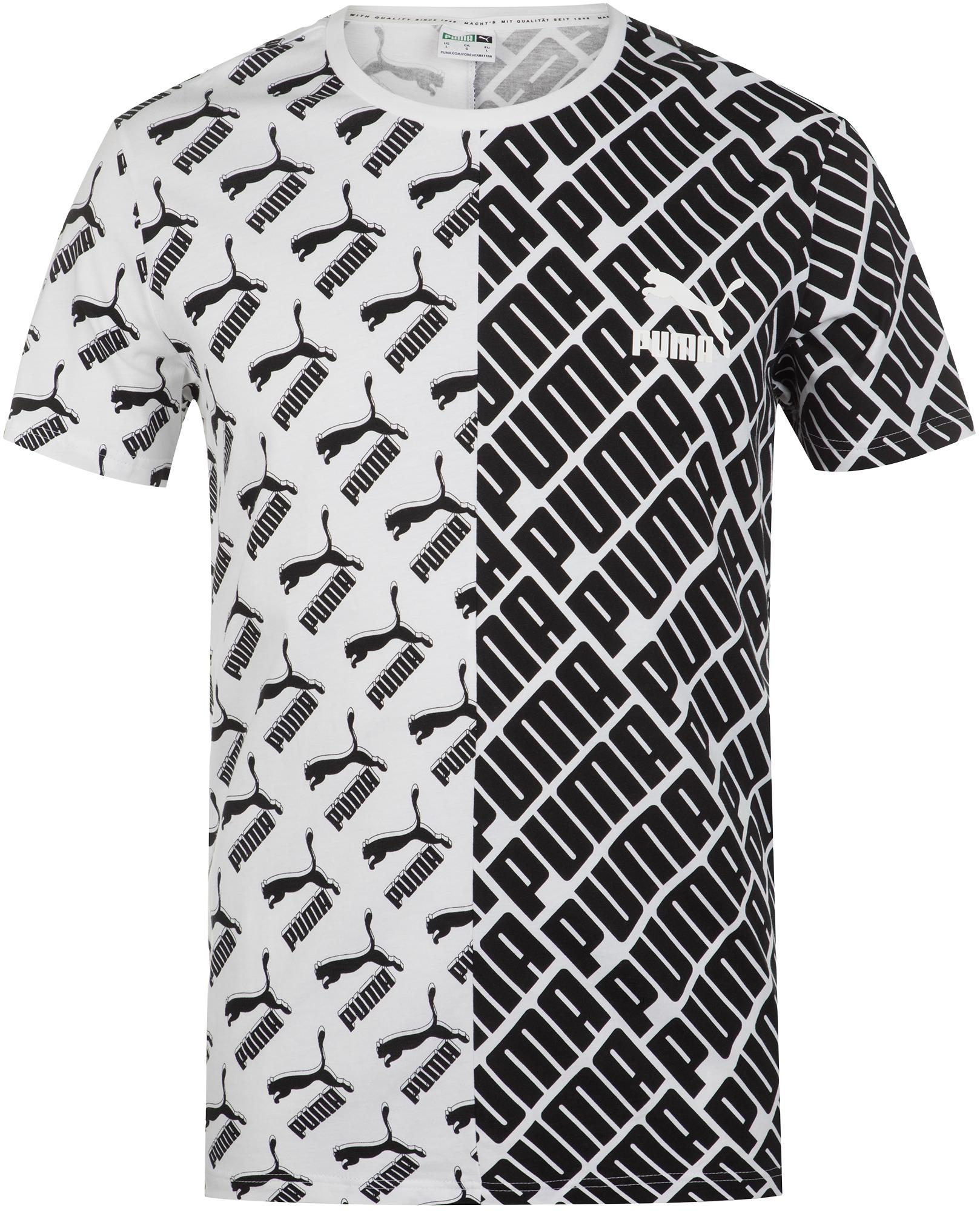 Puma Футболка мужская Puma AOP Split Tee, размер 48-50 puma футболка мужская puma aop split tee размер 48 50