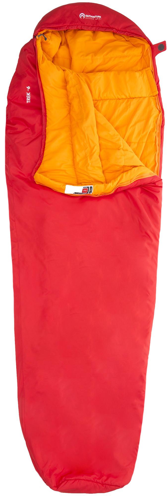 Outventure Спальный мешок левый для походов Outventure Trek T -6