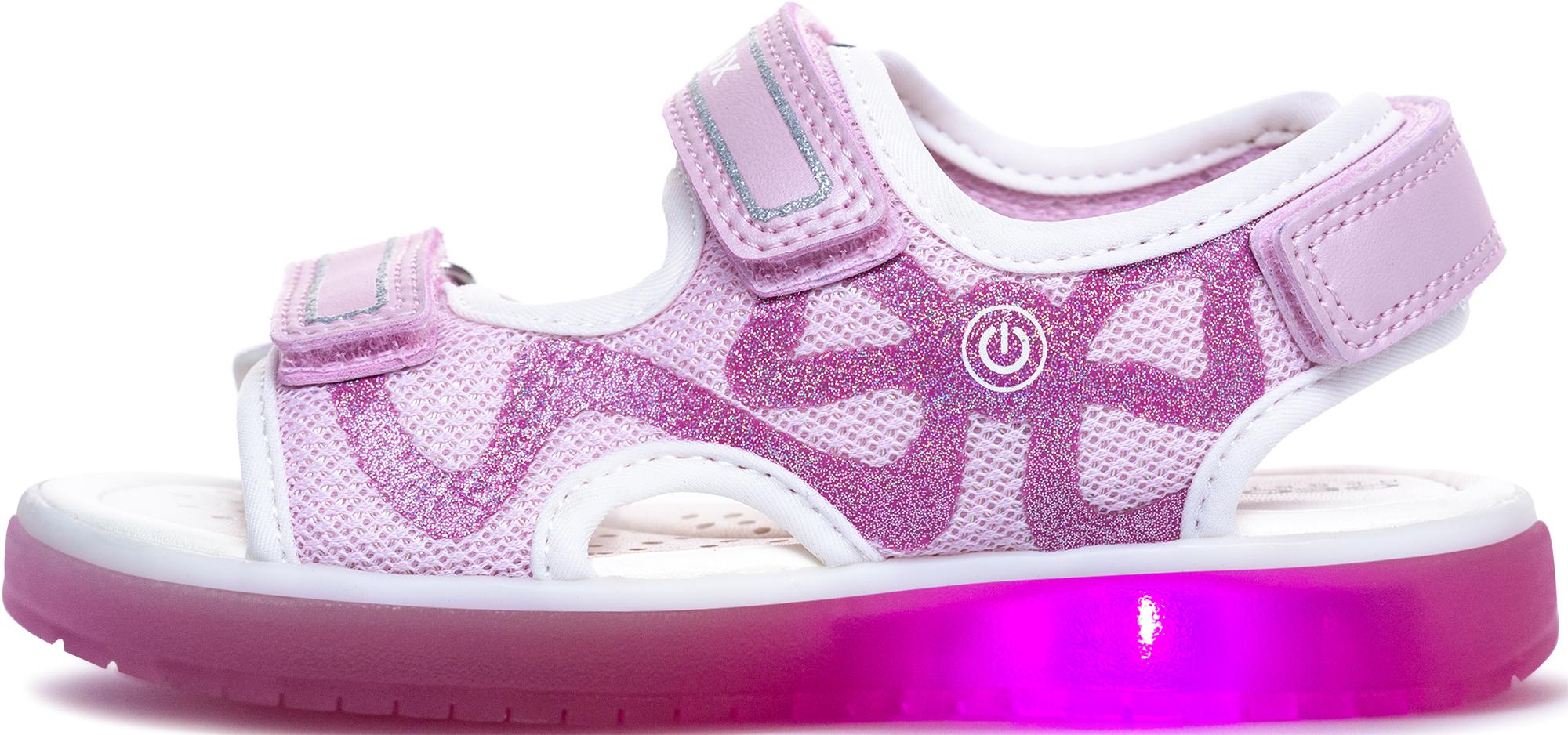 Geox Сандалии для девочек Geox Blikk, размер 34 geox сандалии для мальчика geox