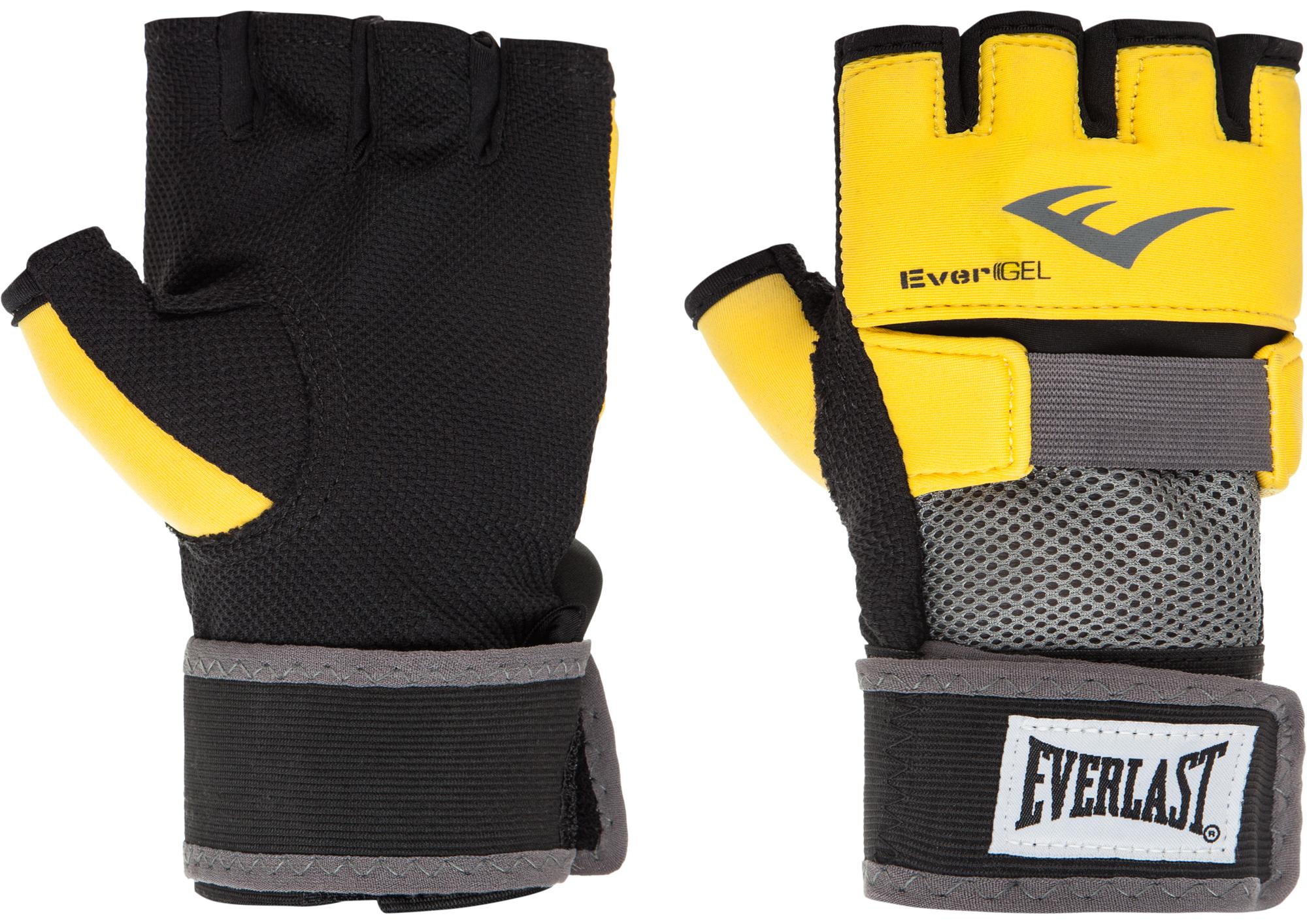 перчатки гелевые с бинтом everlast duster evergel цвет желтый длина бинта 150 см размер s m Everlast Перчатки-бинты снарядные Everlast Evergel, размер 11
