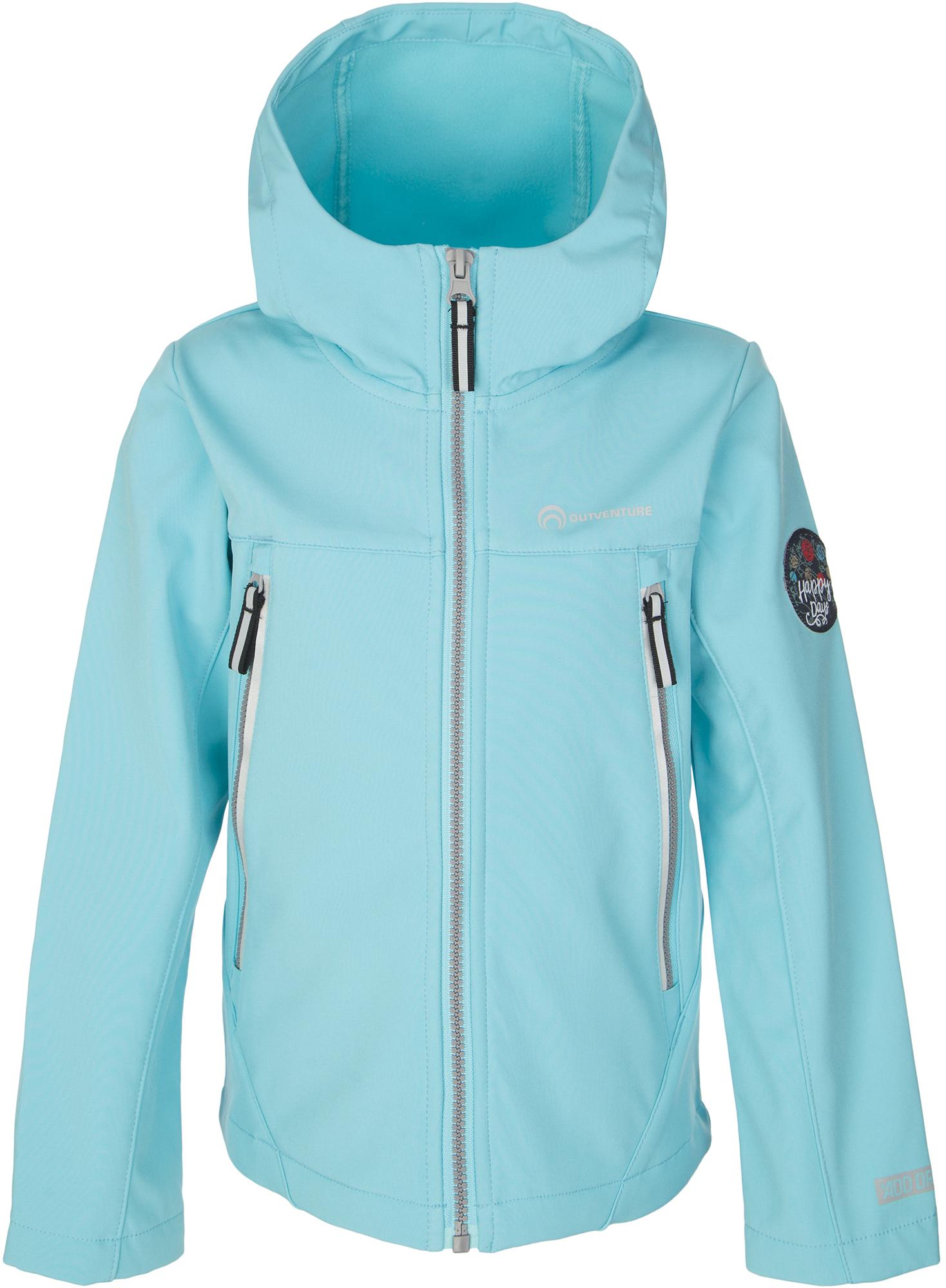 Outventure Куртка софт-шелл для девочек Outventure, размер 122