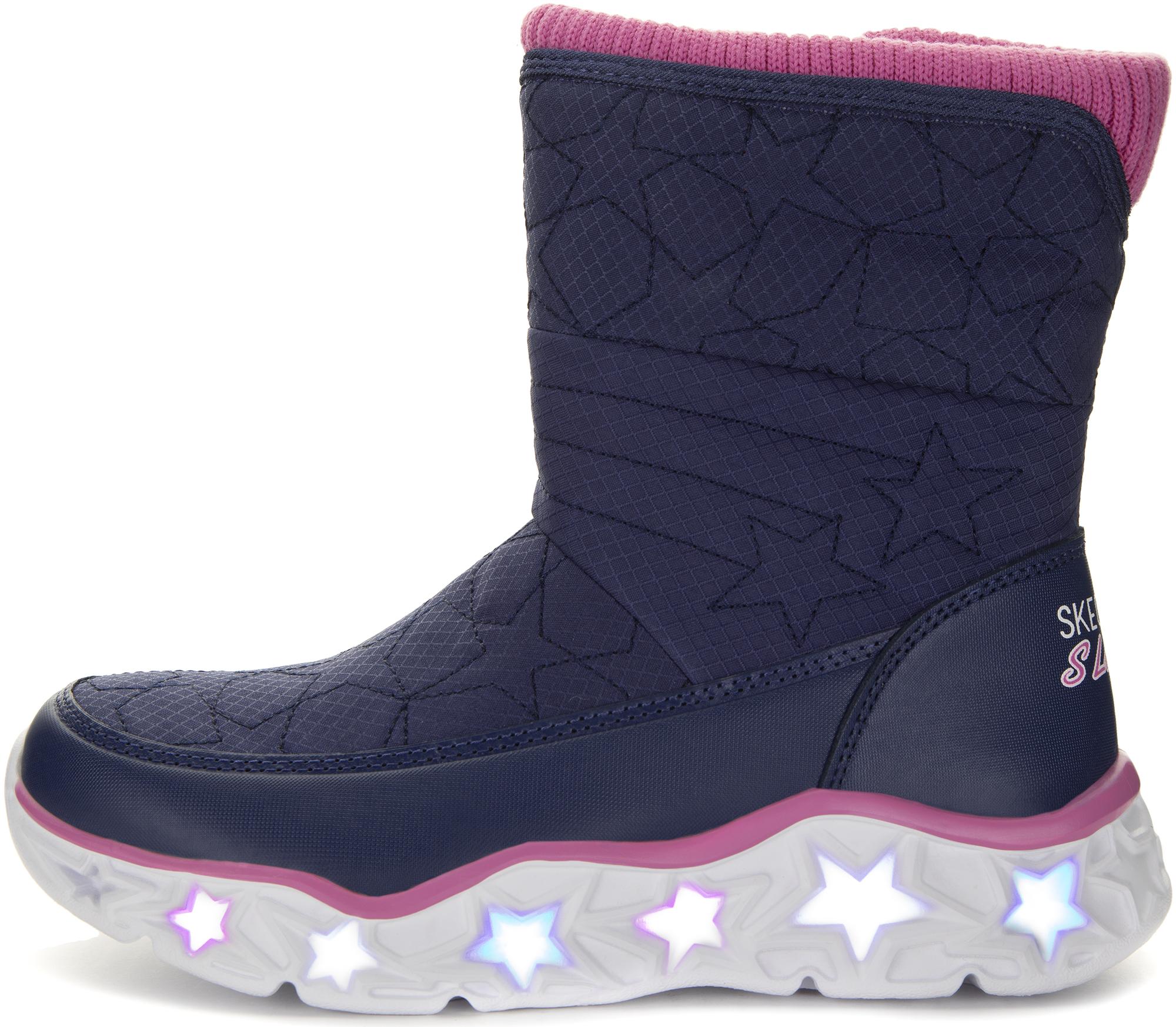 Skechers Сапоги для девочек Galaxy Lights-Star Brights, размер 32