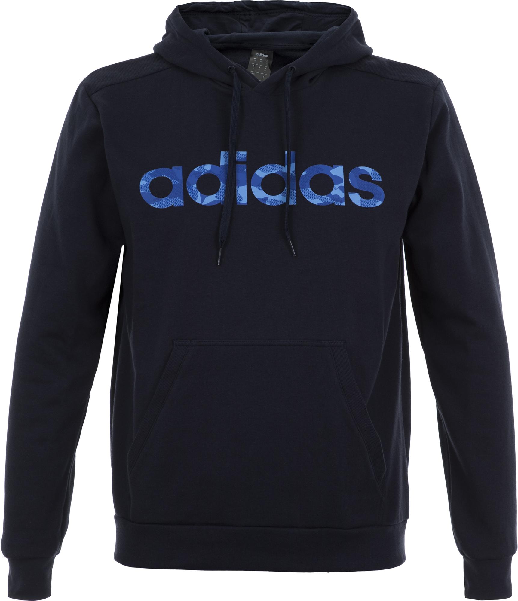 Adidas Худи мужская Adidas Camo Linear, размер 56