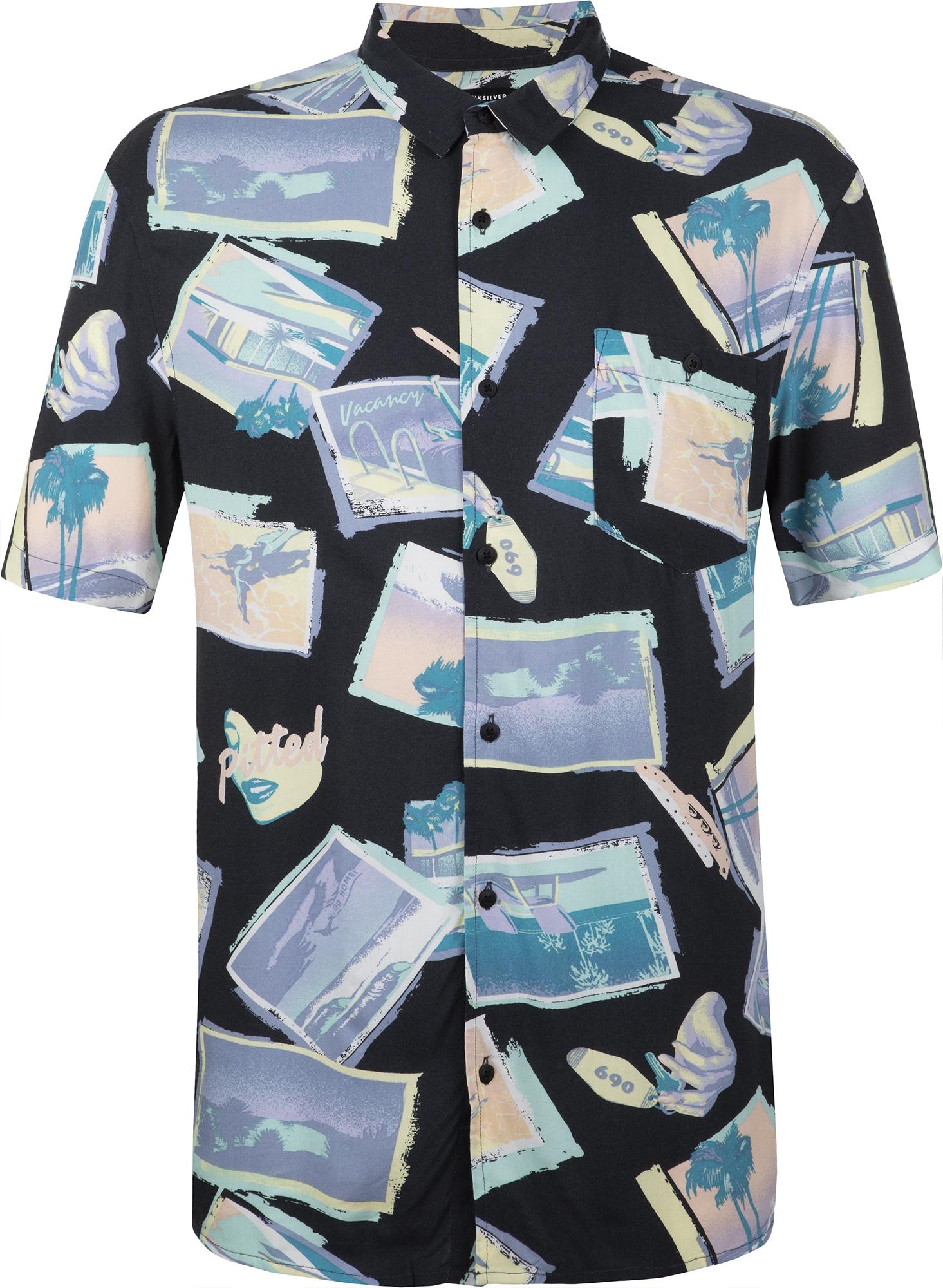 цена на Quiksilver Рубашка с коротким рукавом мужская Quiksilver Vacancy, размер 52-54
