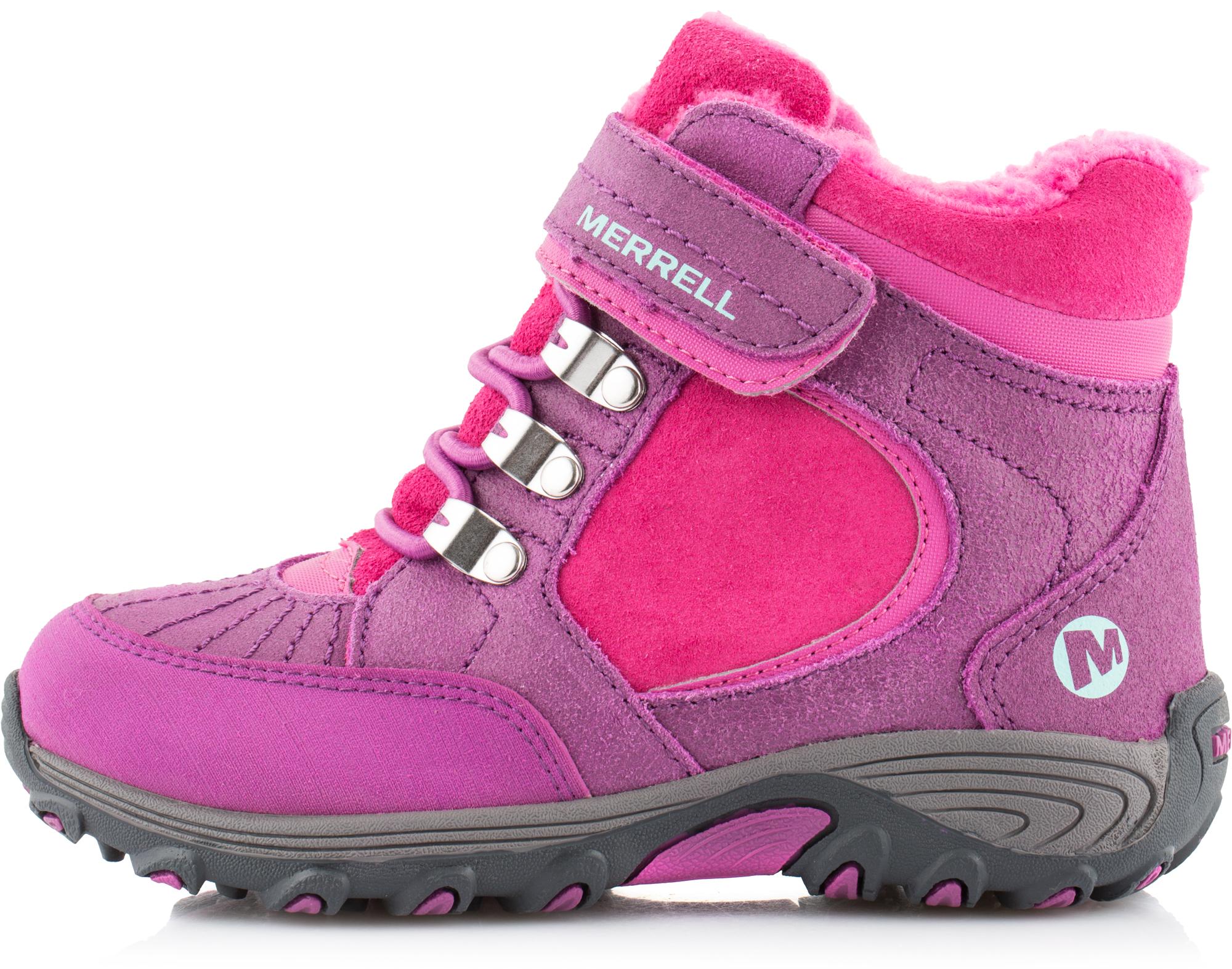 Merrell Ботинки утепленные для девочек Merrell Quick Close Natural
