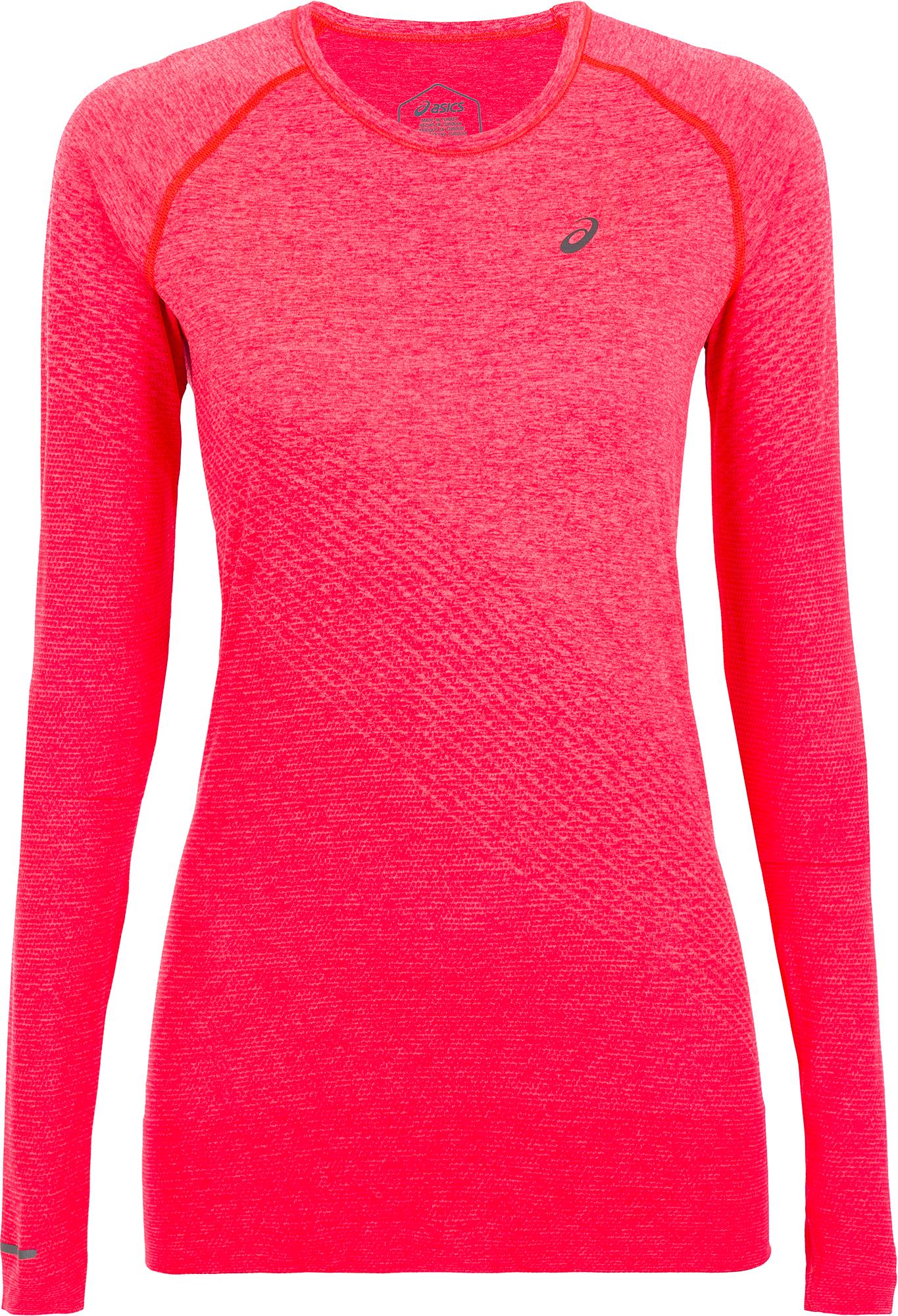 ASICS Лонгслив женский ASICS Seamless, размер 46-48 лонгслив женский oodji collection цвет бордовый белый 24211001b 45297 4912s размер l 48