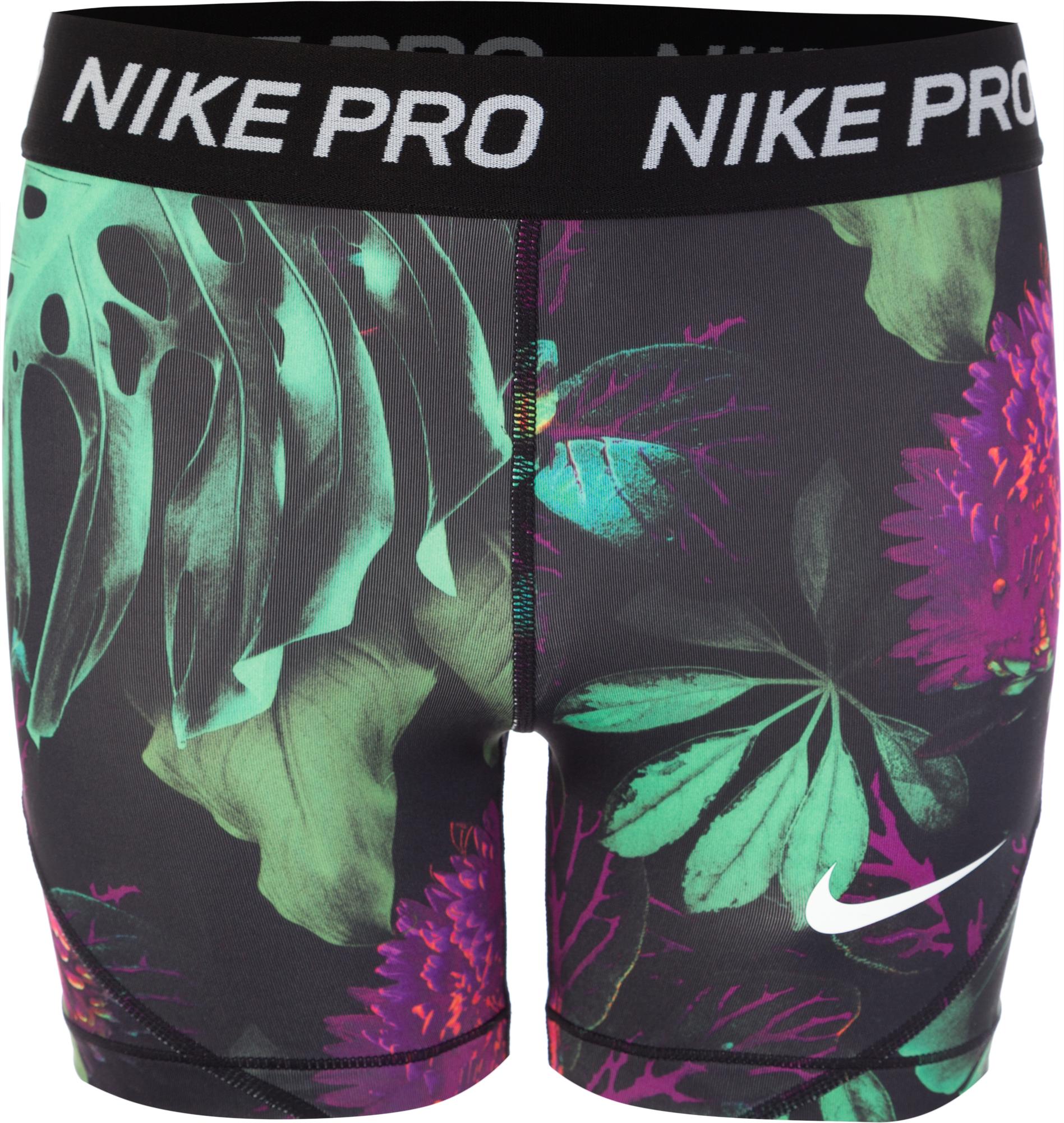Nike Шорты для девочек Nike Pro, размер 156-164