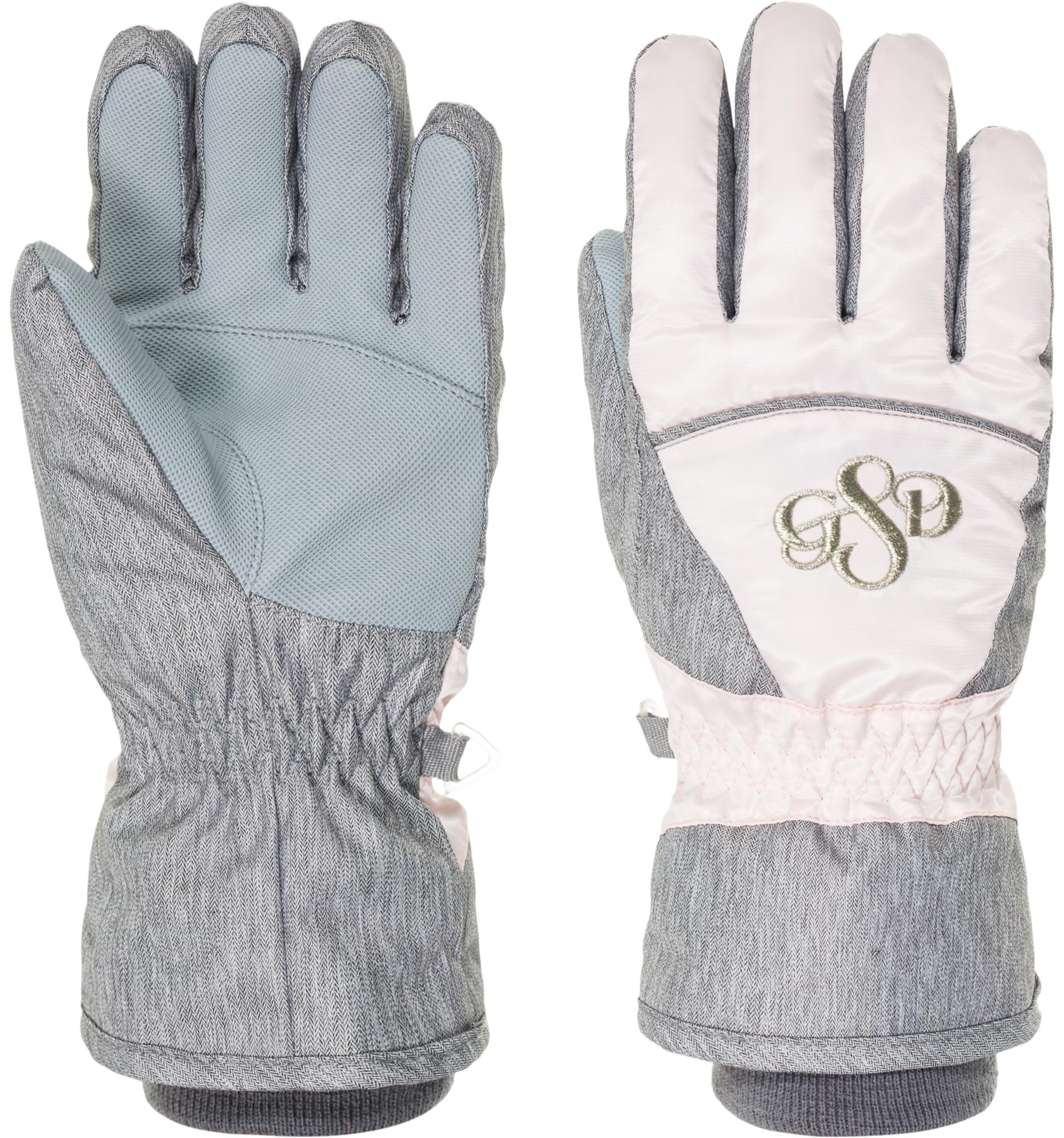 Glissade Перчатки для девочек Glissade, размер 5