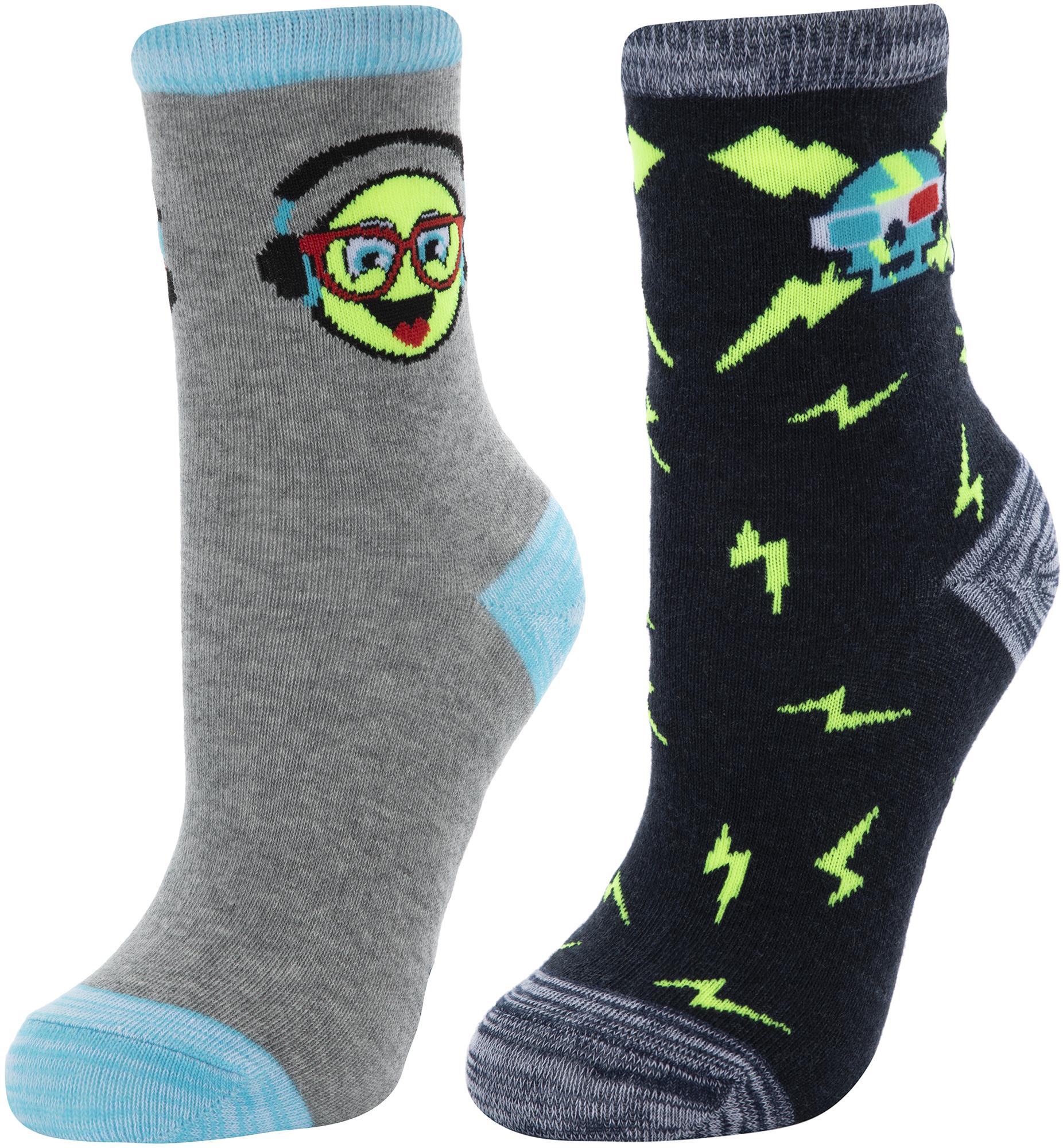 Skechers Носки для мальчиков Skechers, 2 пары, размер 24-35