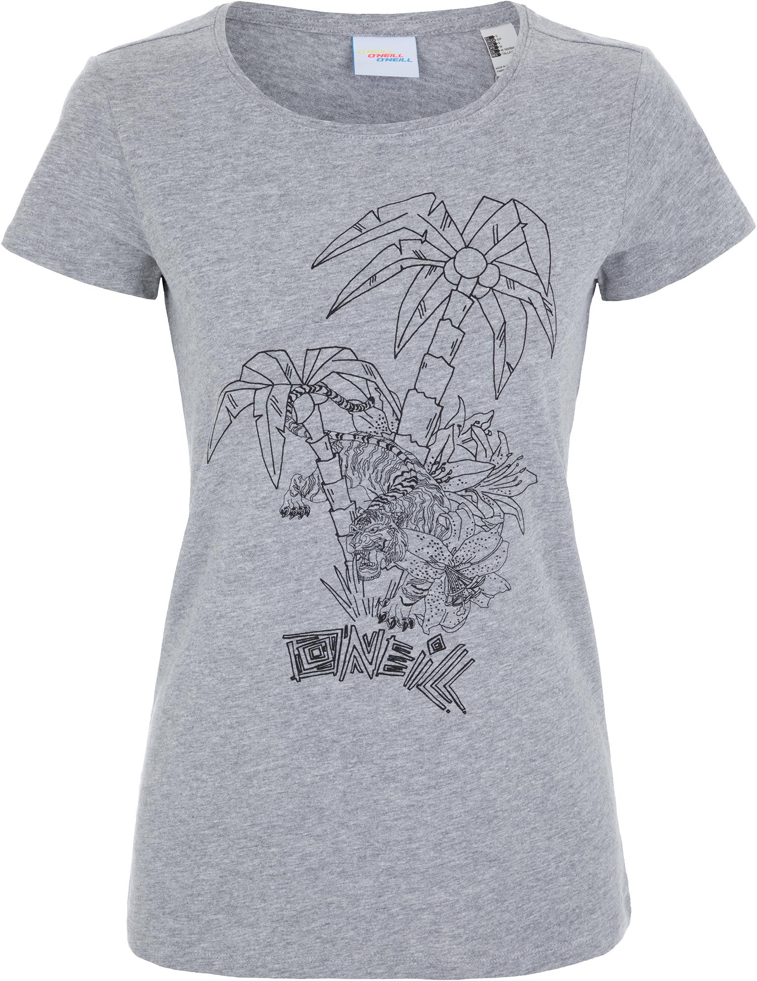 O'Neill Футболка женская O'Neill Lw Brooklyn Banks, размер 50-52 футболка женская o neill lw brooklyn banks t shirt цвет светло серый 9a7310 8101 размер m 46 48