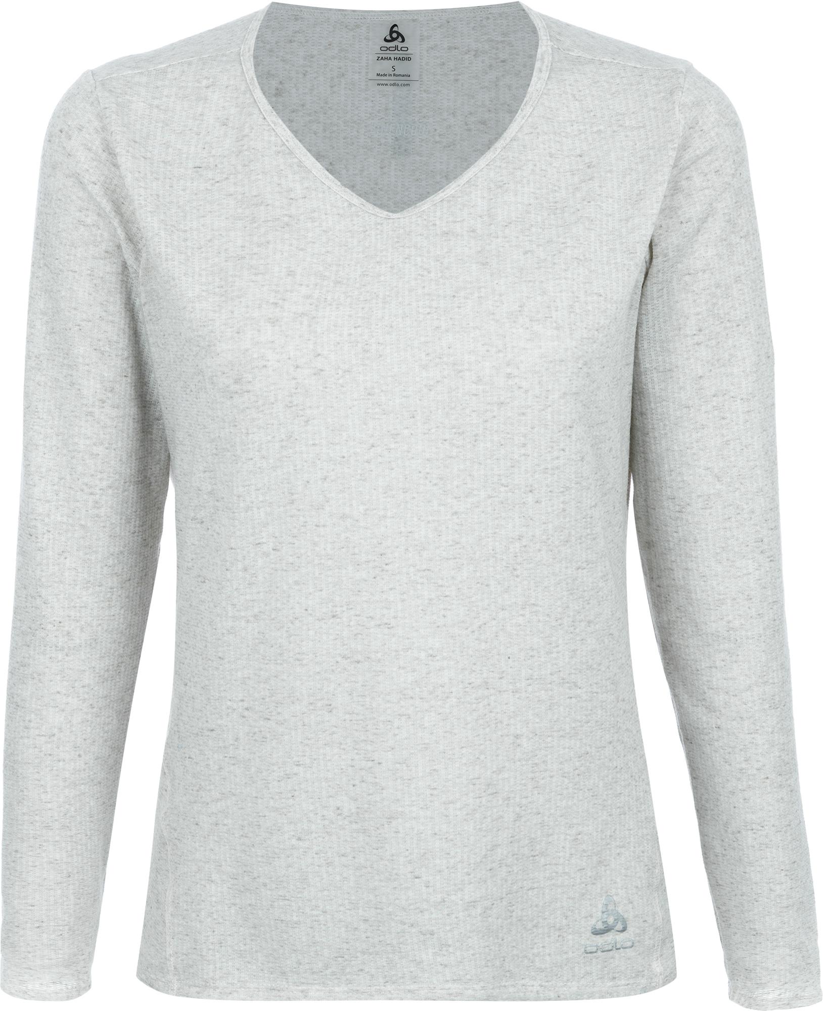 цена Odlo Футболка с длинным рукавом женская Odlo Lou Linencool, размер 44-46 онлайн в 2017 году