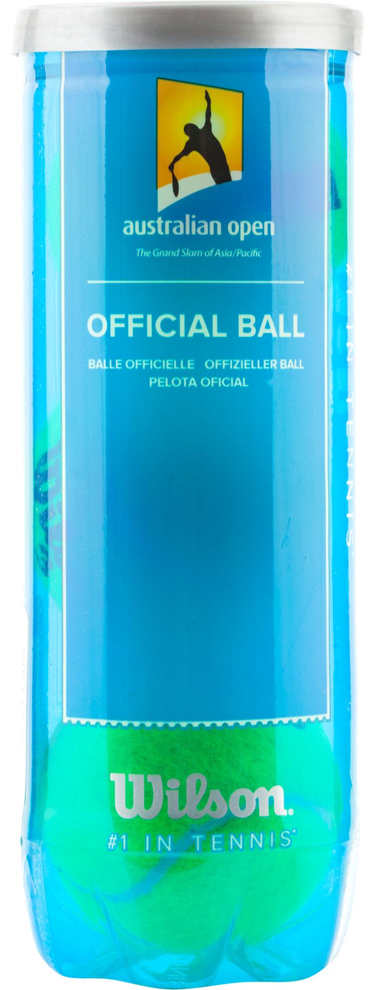 Wilson Набор теннисных мячей Australian Open 3 Ball