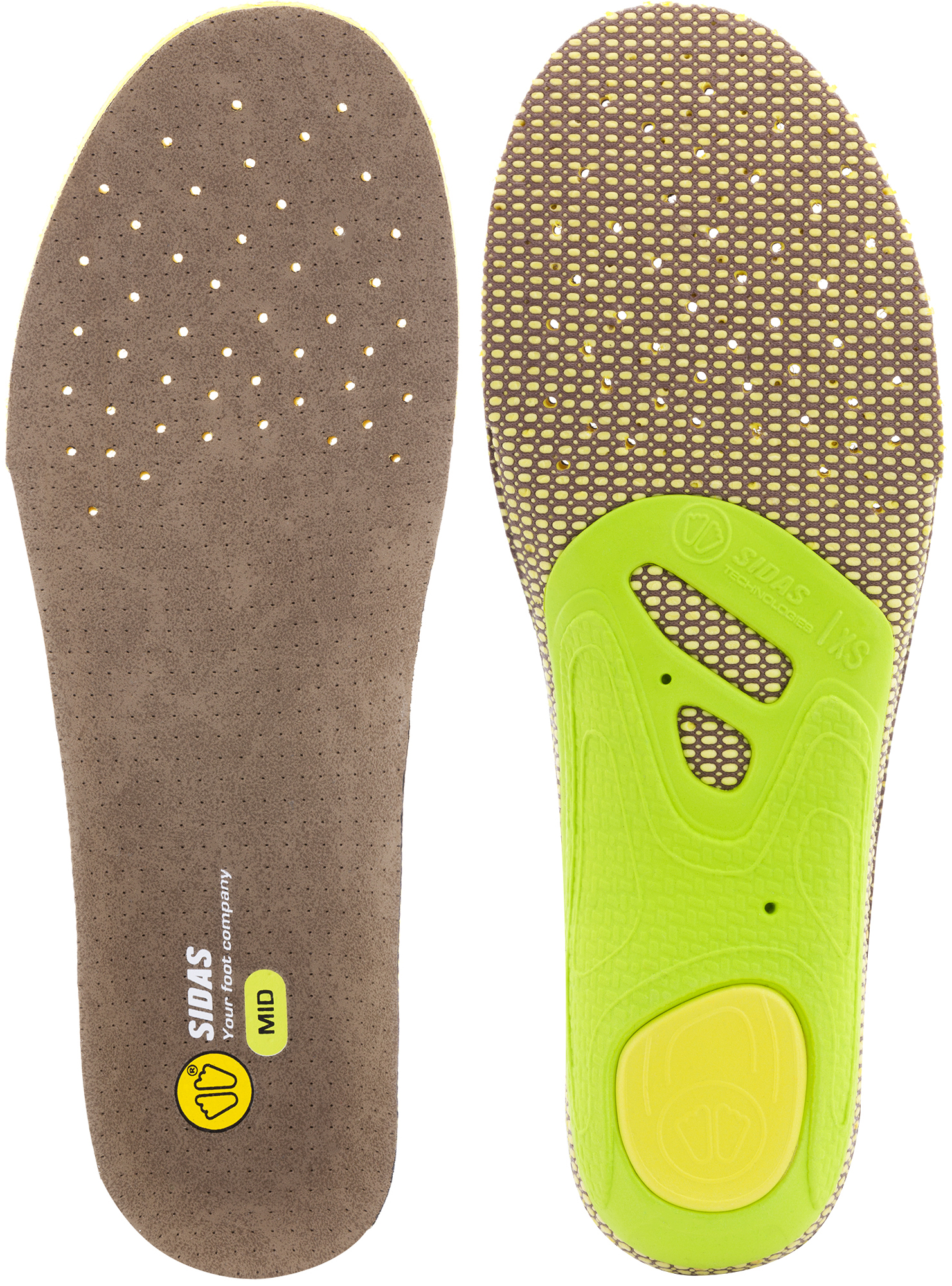 Sidas 3-feet high insoles, blue, x-small (mens-3 to 4/womens-4 to 5)