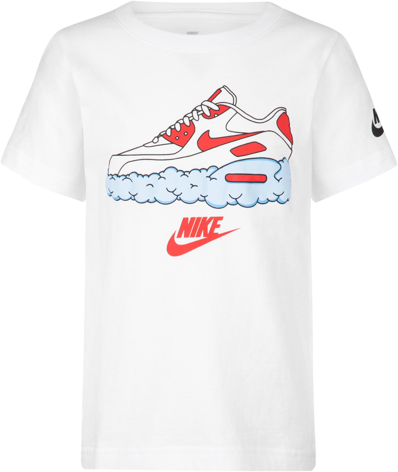 Nike Футболка для мальчиков Nike Airmax Clouds, размер 122 nike футболка для мальчиков nike geo basketball