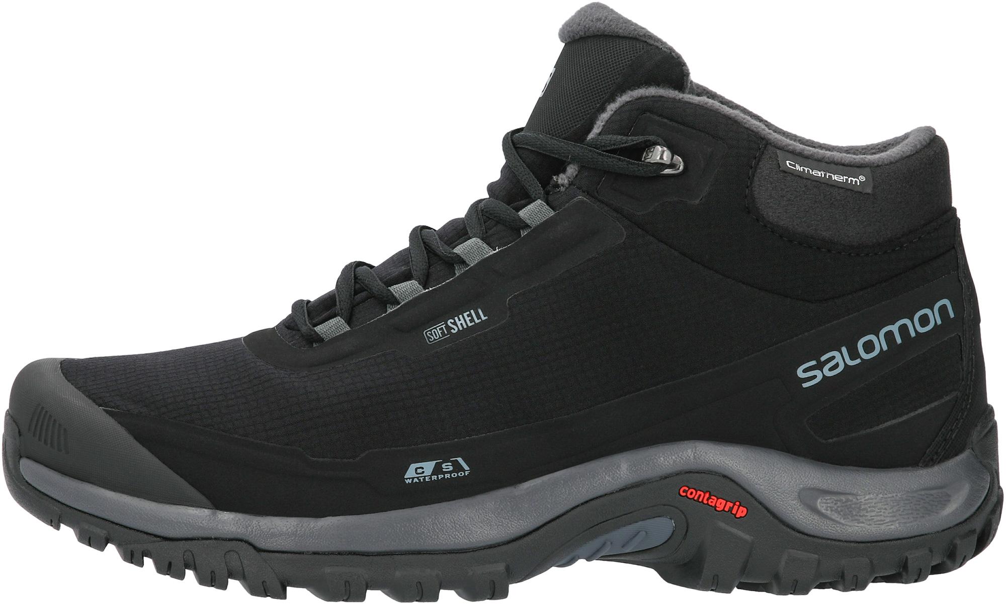 Salomon L41110400-. 12.5 Ботинки мужские утепленные SHELTER CS WP черный/серый р. 12.5, размер 39.5