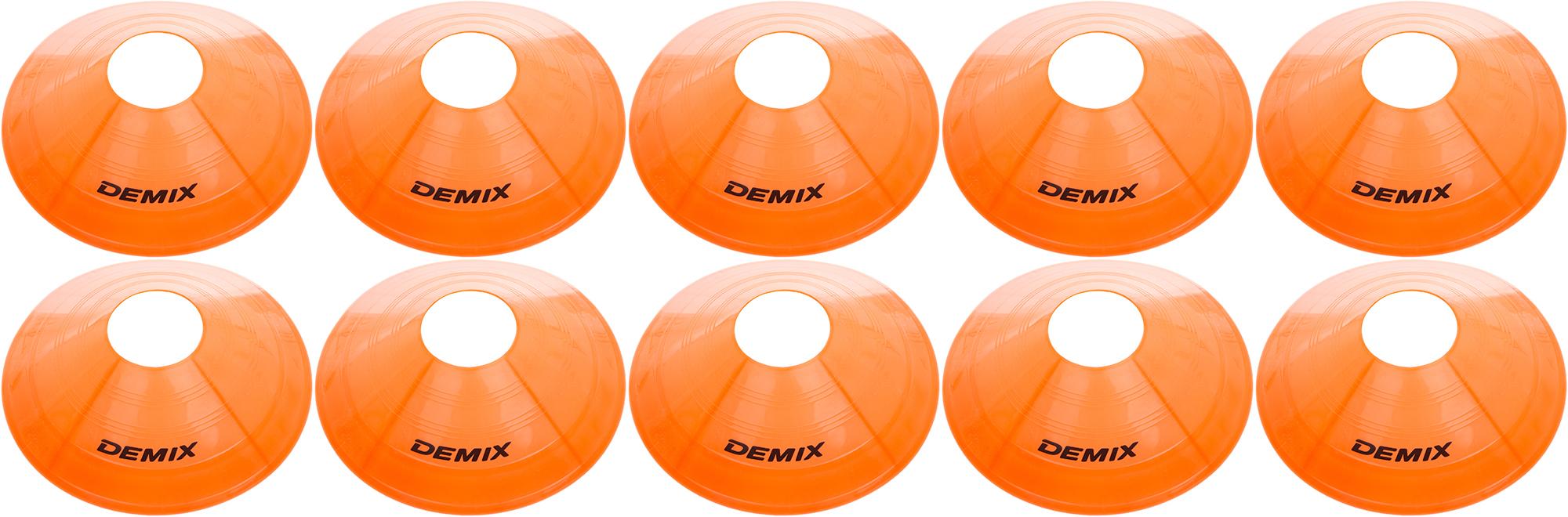Demix Набор для футбола: фишки для разметки поля Demix, 10 шт.
