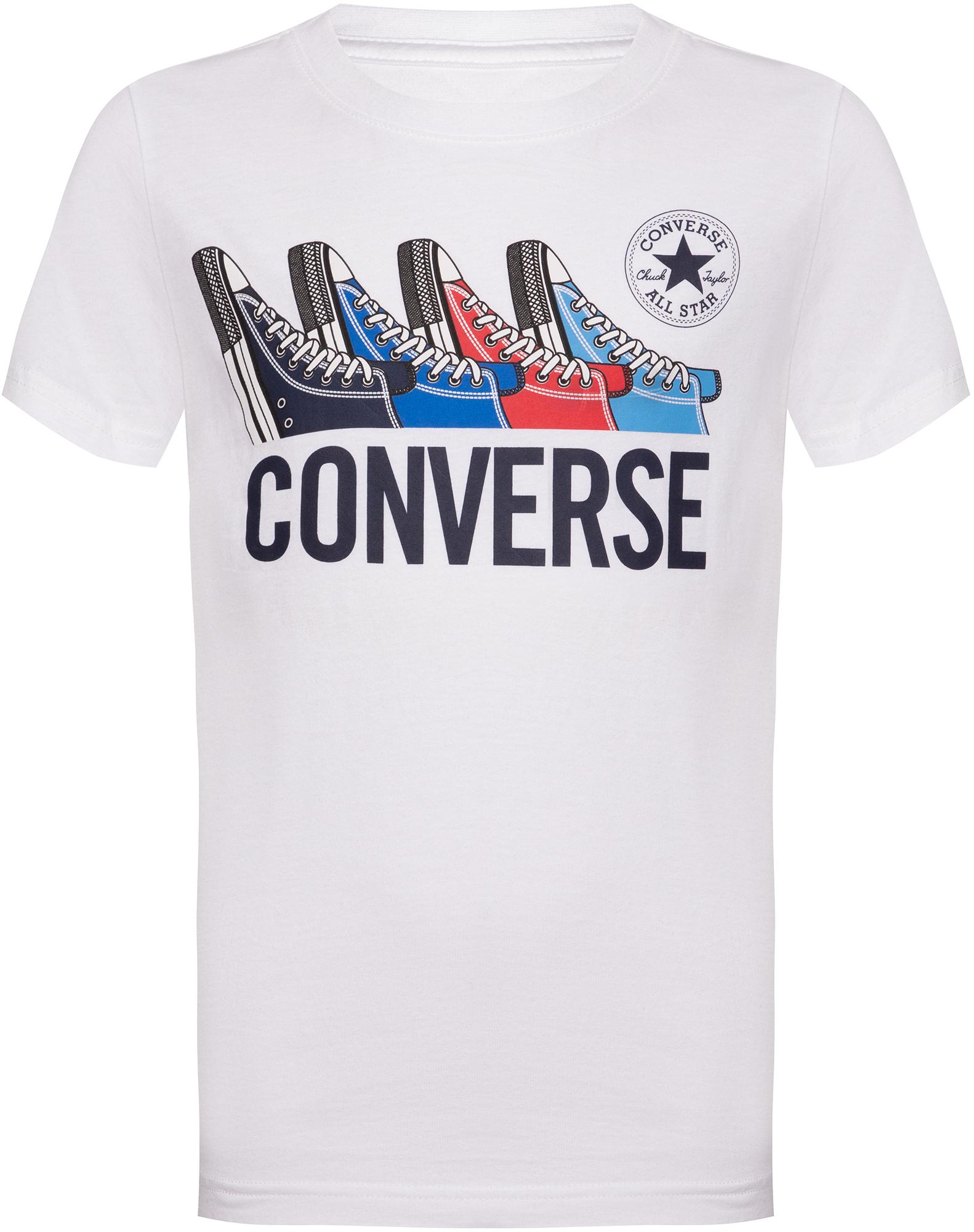 Фото - Converse Футболка для мальчиков Converse Multi Sneaker Tee, размер 152 футболка converse tilted star chevron tee