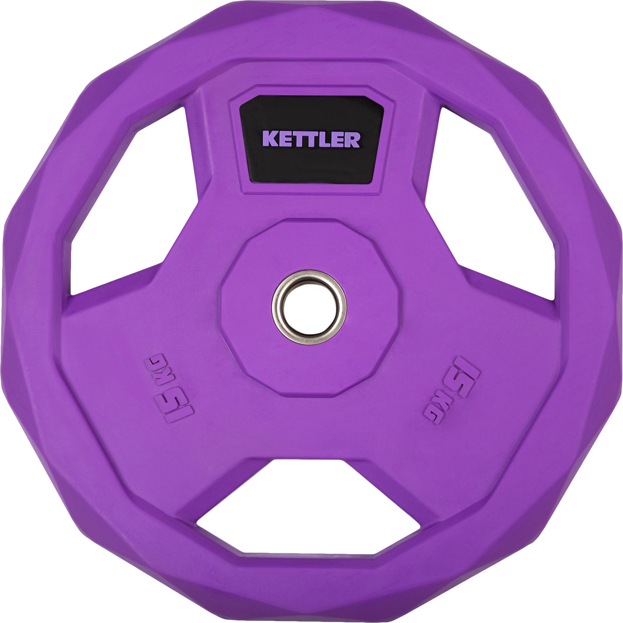Kettler Блин стальной обрезиненный Kettler 15 кг