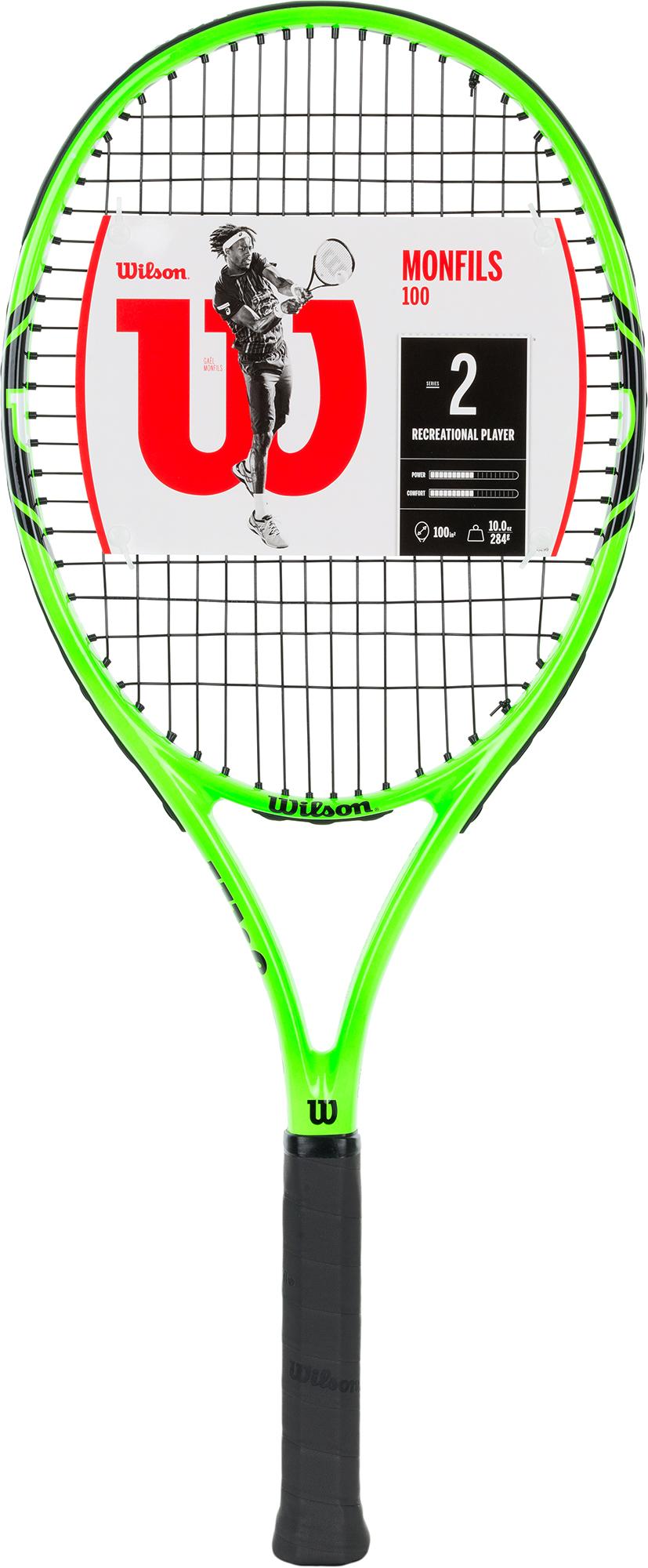 Wilson Ракетка для большого тенниса Wilson Monfils, размер 3 wilson набор мячей для большого тенниса wilson us open x3 размер без размера
