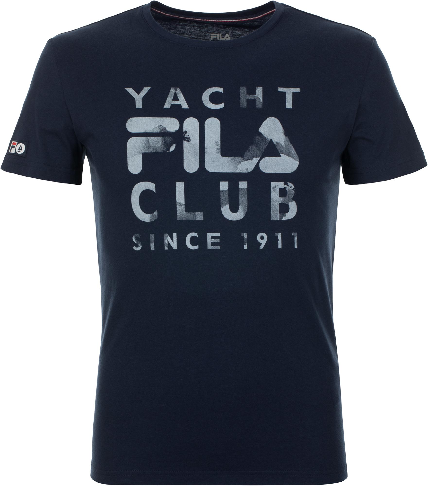 Fila Футболка мужская Fila, размер 54 куртка мужская fila цвет черный a19afljam07 99 размер m 48