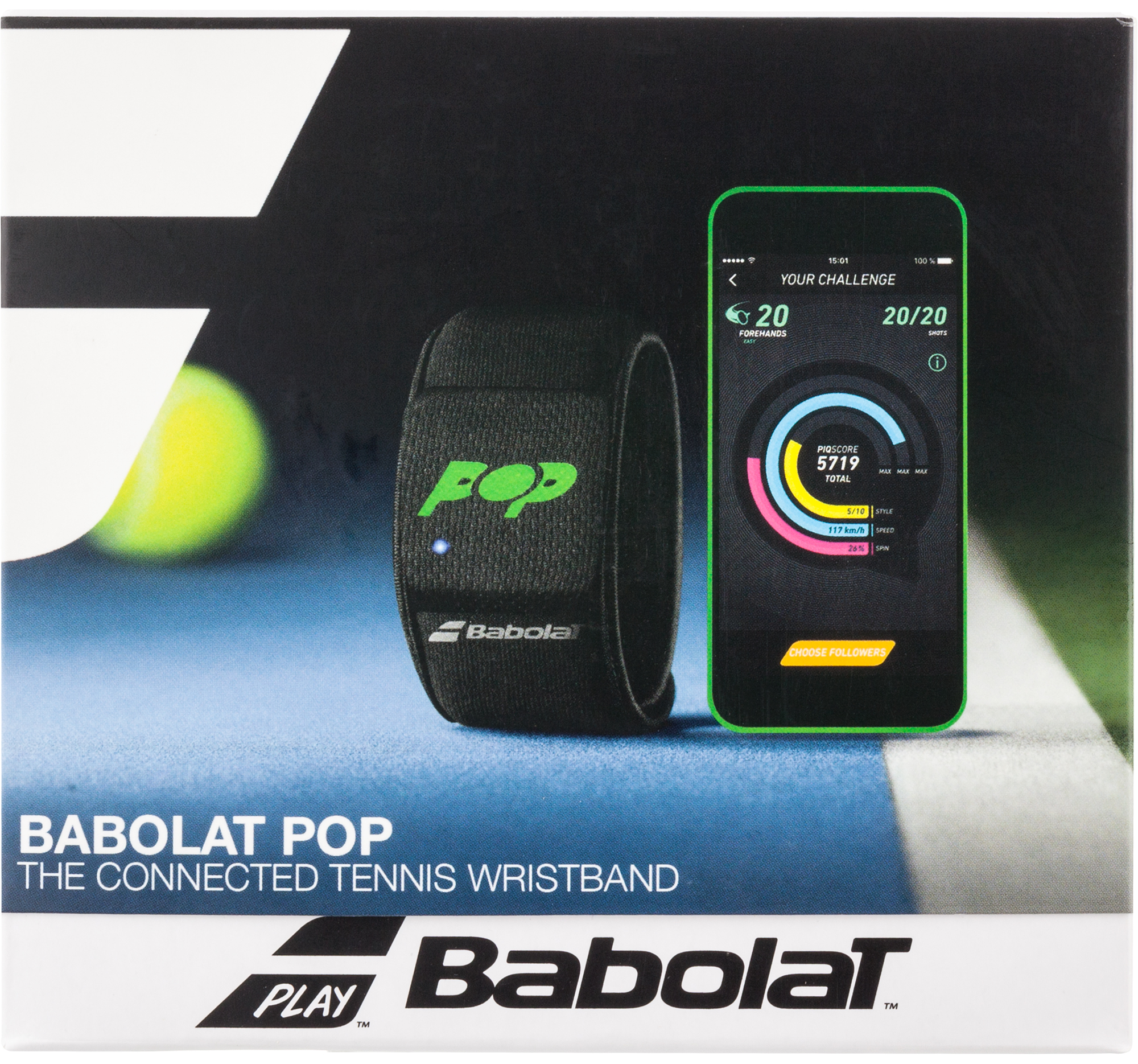 Babolat Теннис-треккер Babolat Connected wristband POP babolat струна babolat origin 12 m