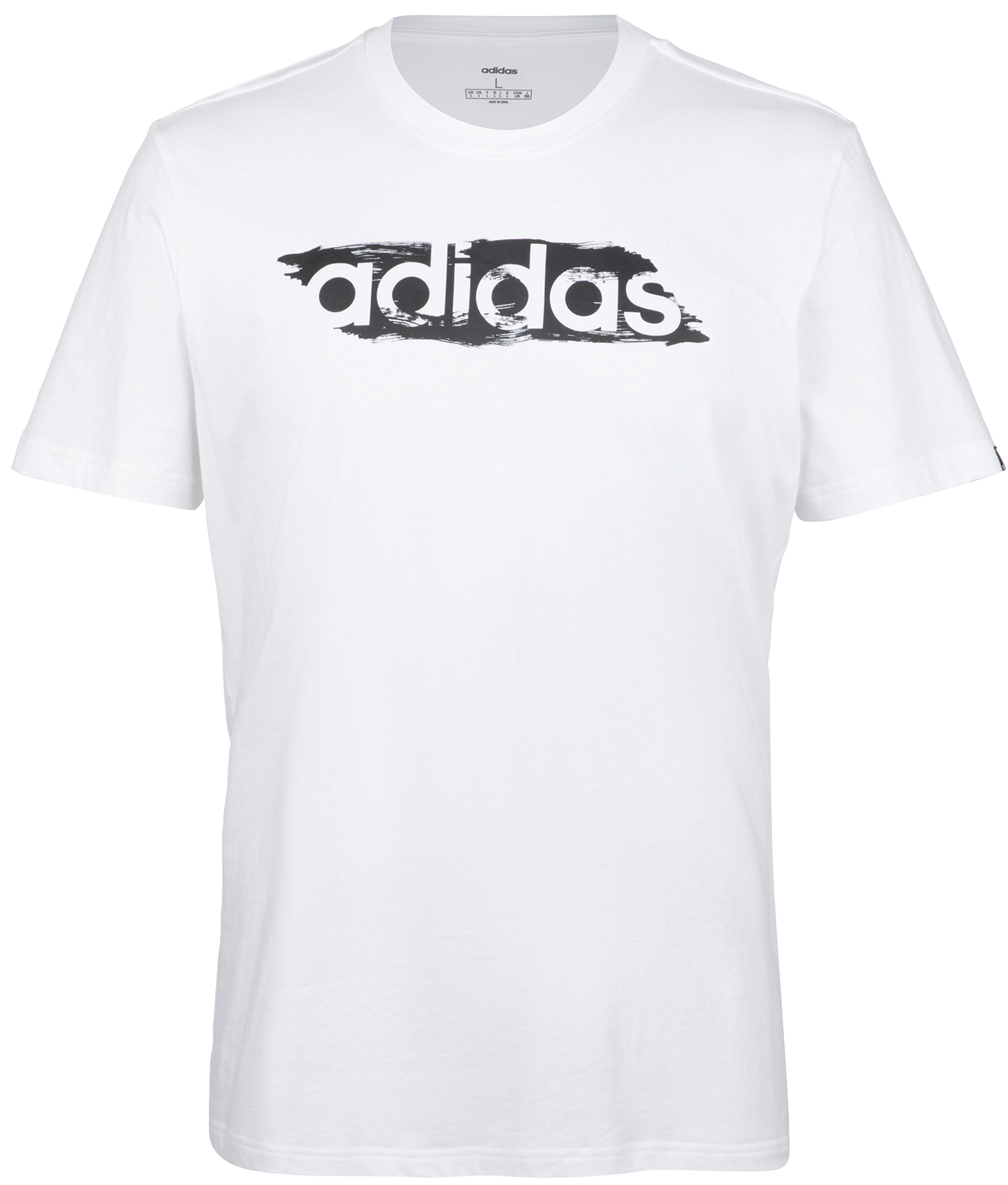 цена Adidas Футболка мужская Adidas Brushstroke, размер 60-62 онлайн в 2017 году