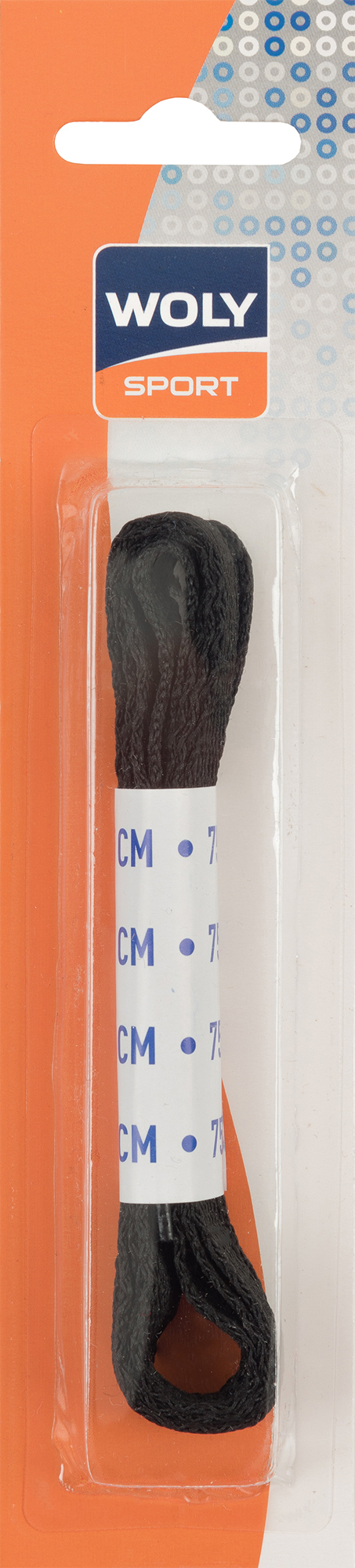 Woly Шнурки плоские черные Woly, 75 см