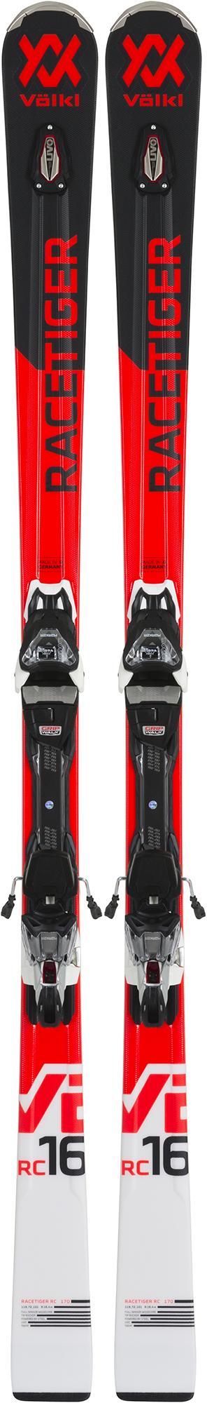 Volkl Volkl Racetiger RC black + VMotion 11 GW (18/19), размер 170 лыжи крепления volkl volkl flair 73 vmotion 9 gw lady 17 18 размер 153