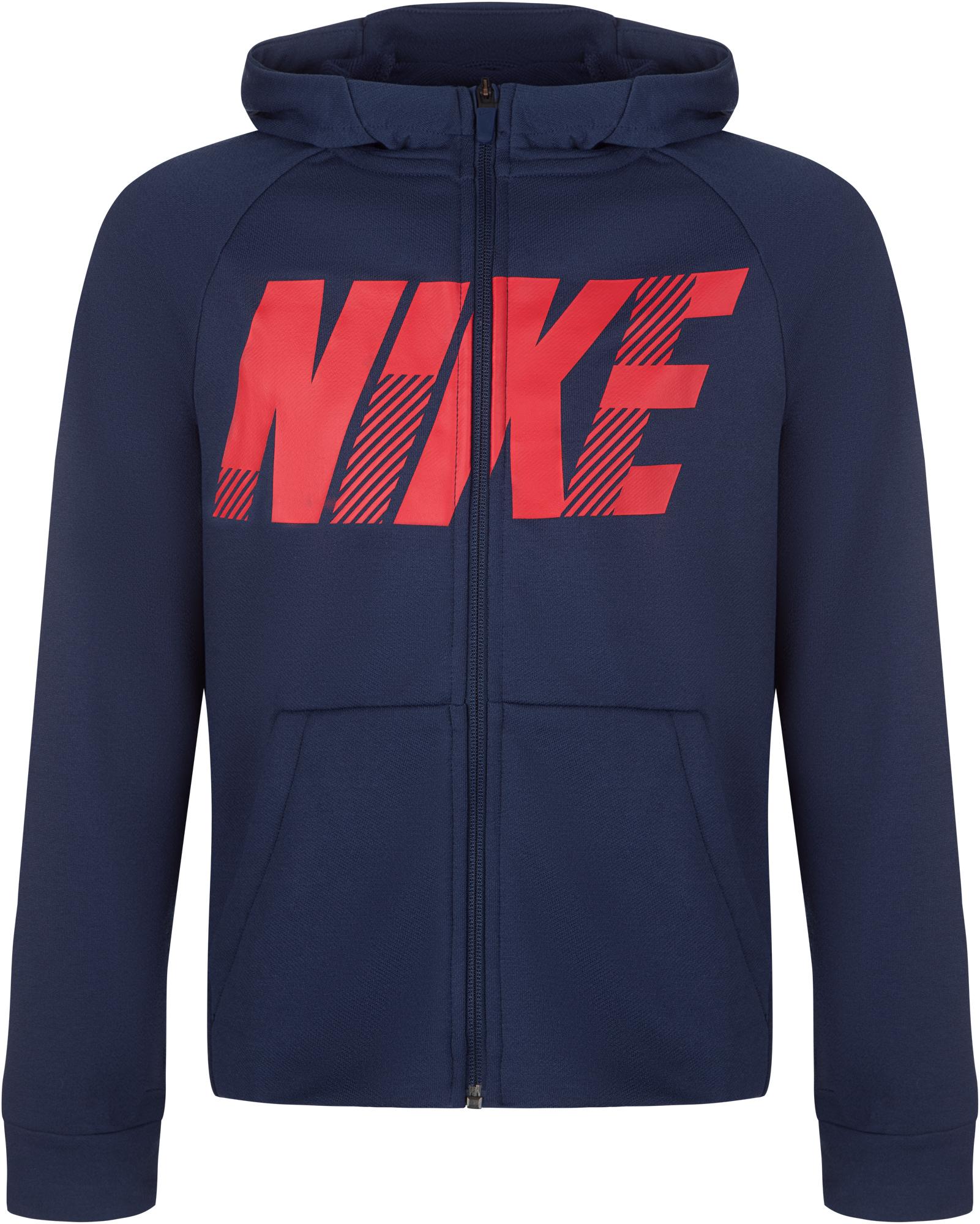 цена Nike Толстовка для мальчиков Nike Dry, размер 158-170 онлайн в 2017 году