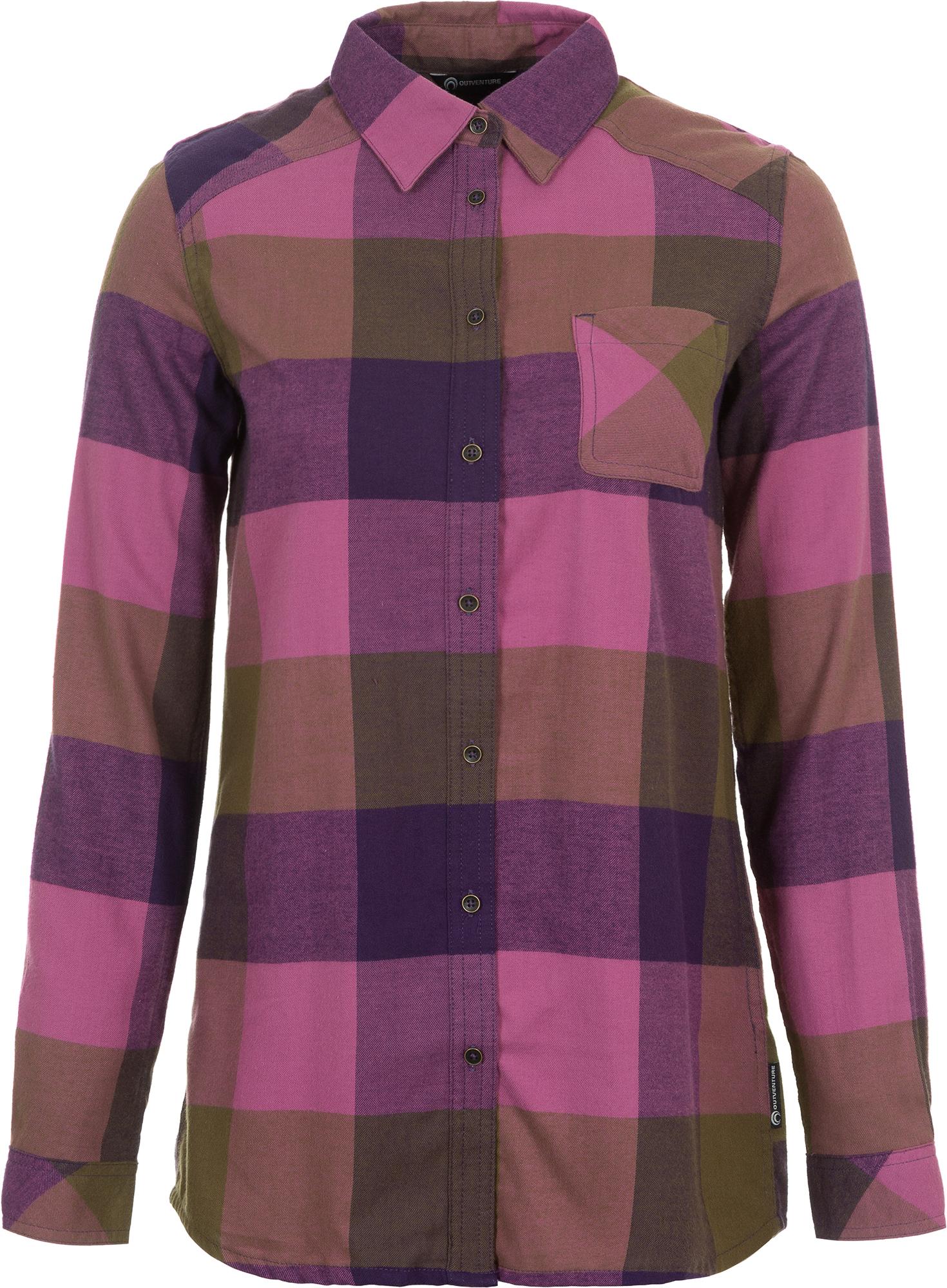 Outventure Рубашка с длинным рукавом женская Outventure, размер 50