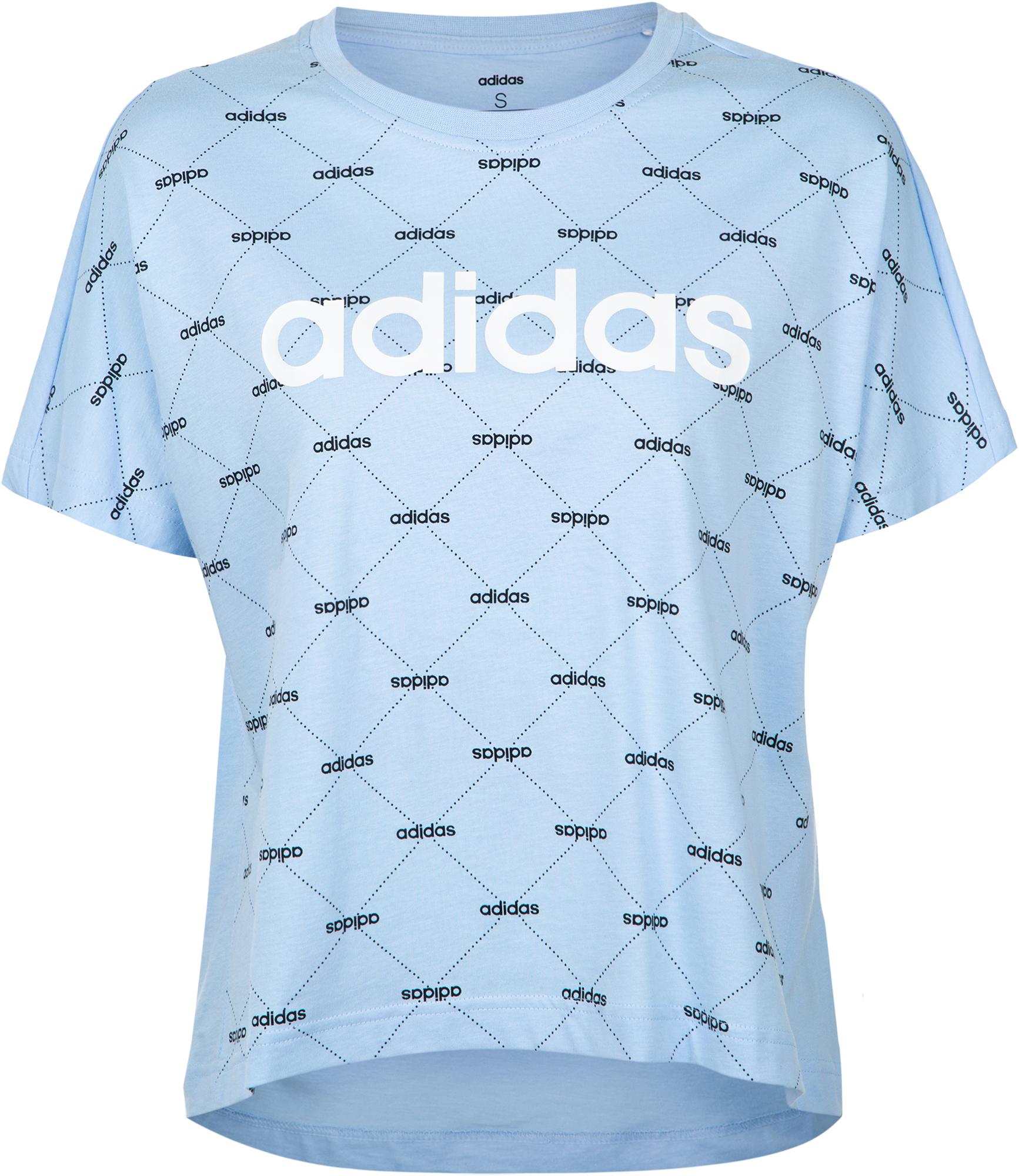Adidas Футболка женская Adidas Linear Graphic, размер 50-52 цена