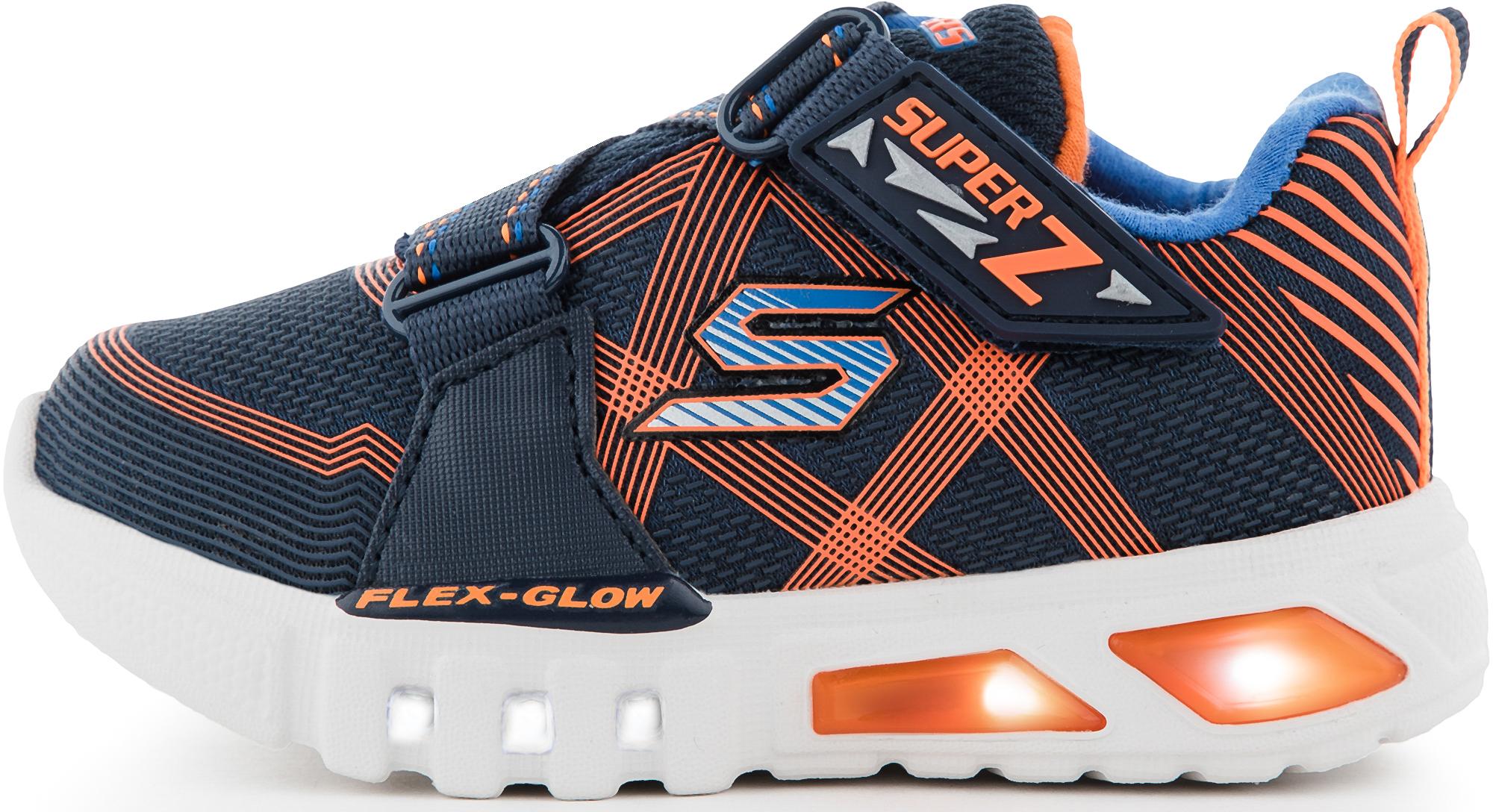 Skechers Кроссовки для мальчиков Skechers Flex-Glow-Nite Lite, размер 25,5 skechers women s ez flex 2 right on fashion sneaker