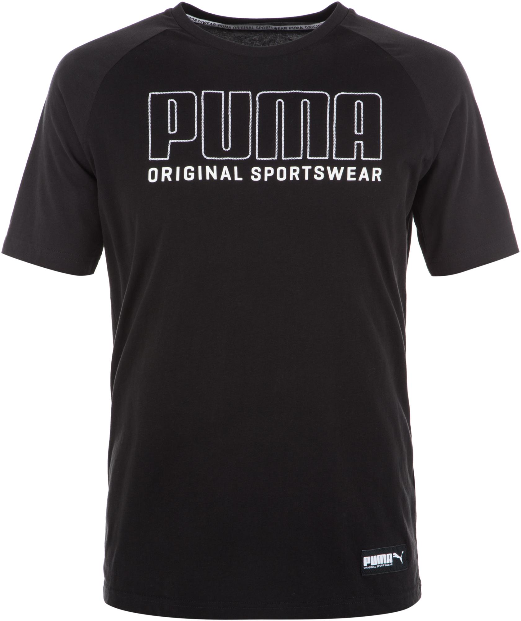Puma Футболка мужская Puma Athletics, размер 50-52 цена 2017