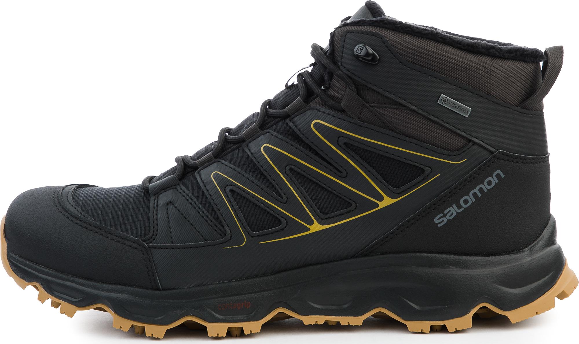 Salomon L41010400-. 11.0 Ботинки мужские утепленные CRUZANO 2 GTX черные/желтые р. 11.0, размер 45.5