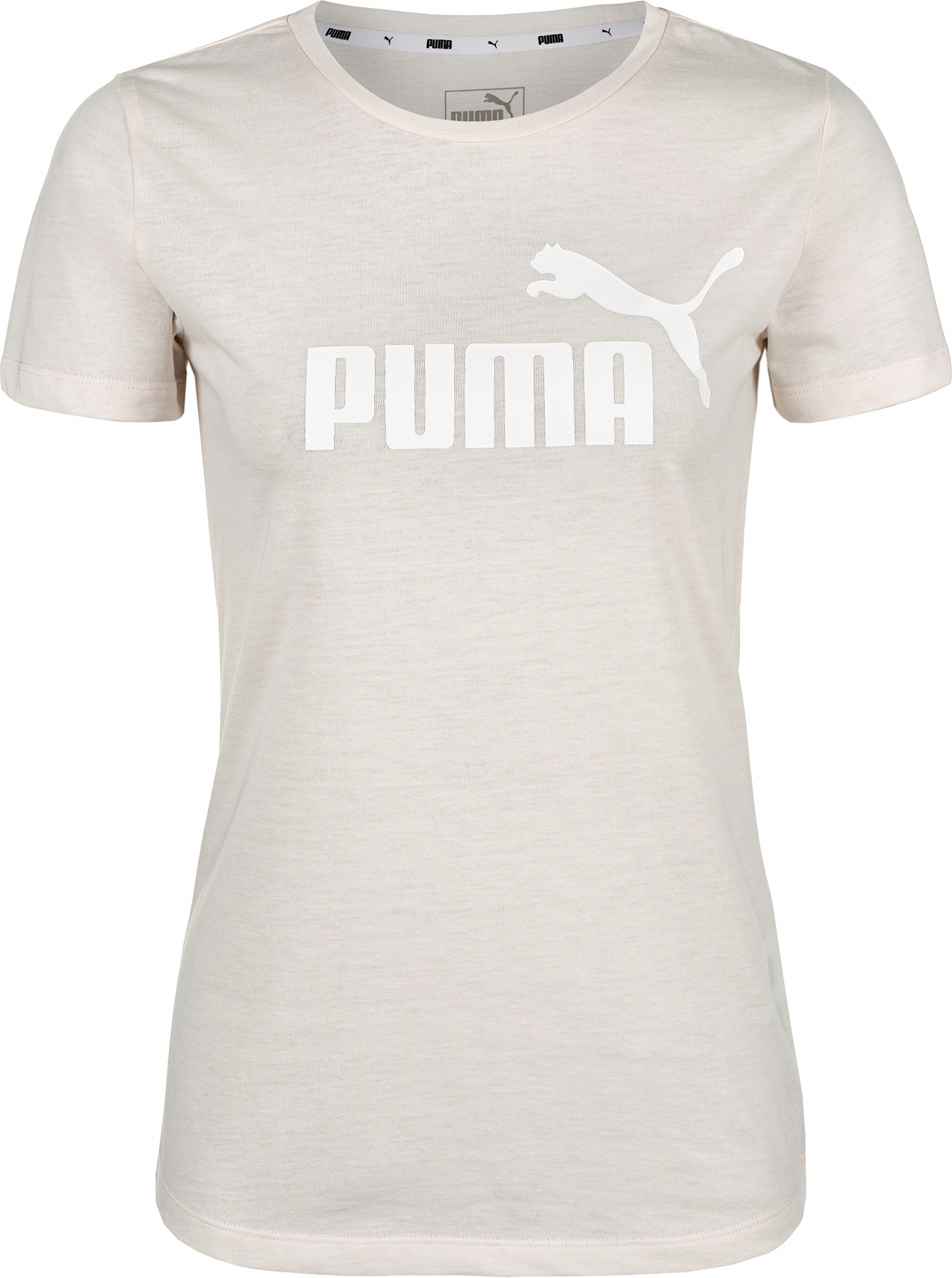 Puma Футболка женская Puma ESS+ Logo Heather Tee, размер 46-48 men ombre tee with drawstring shorts